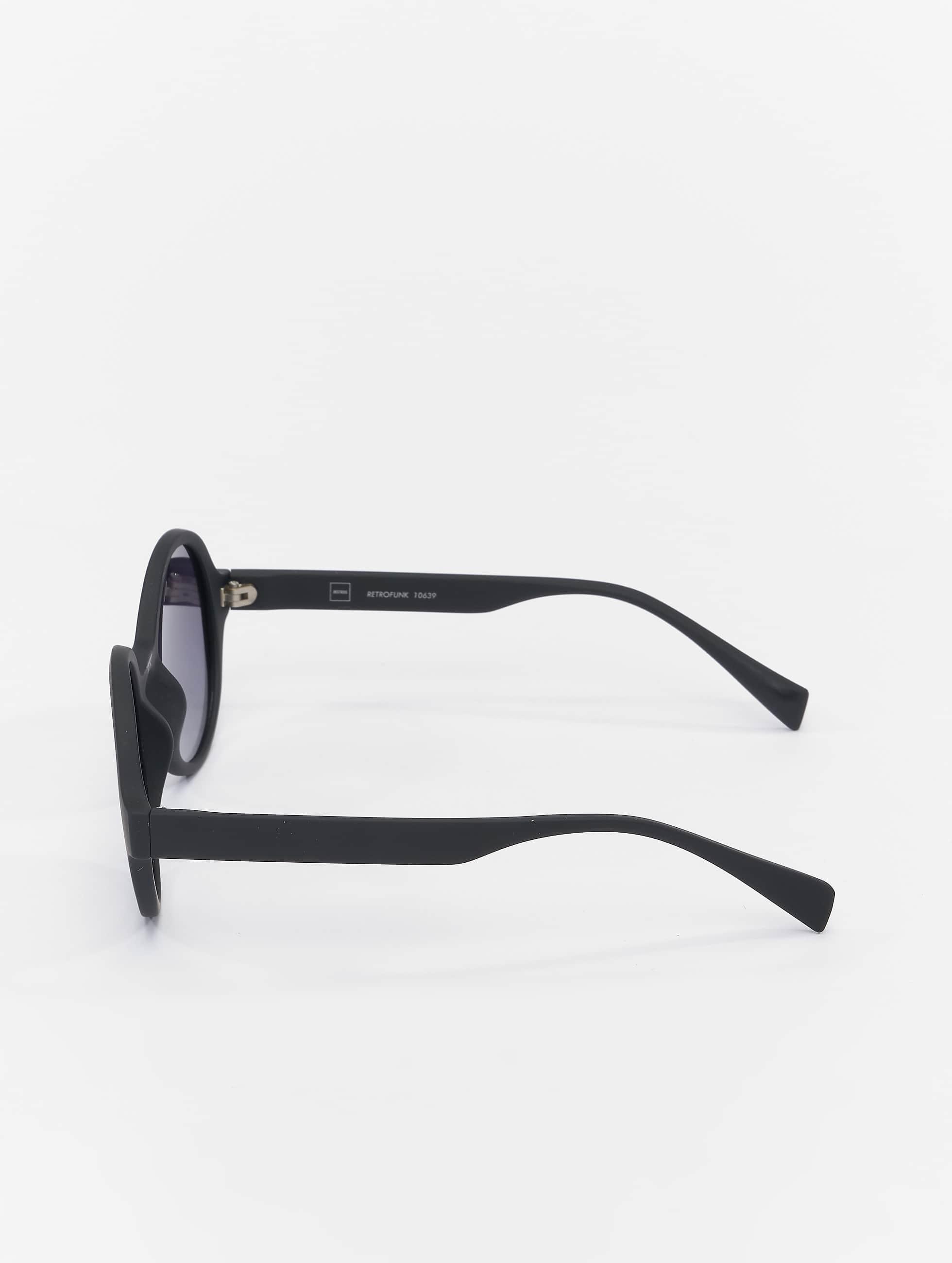 MSTRDS Sonnenbrille Retro Funk Polarized Mirror schwarz