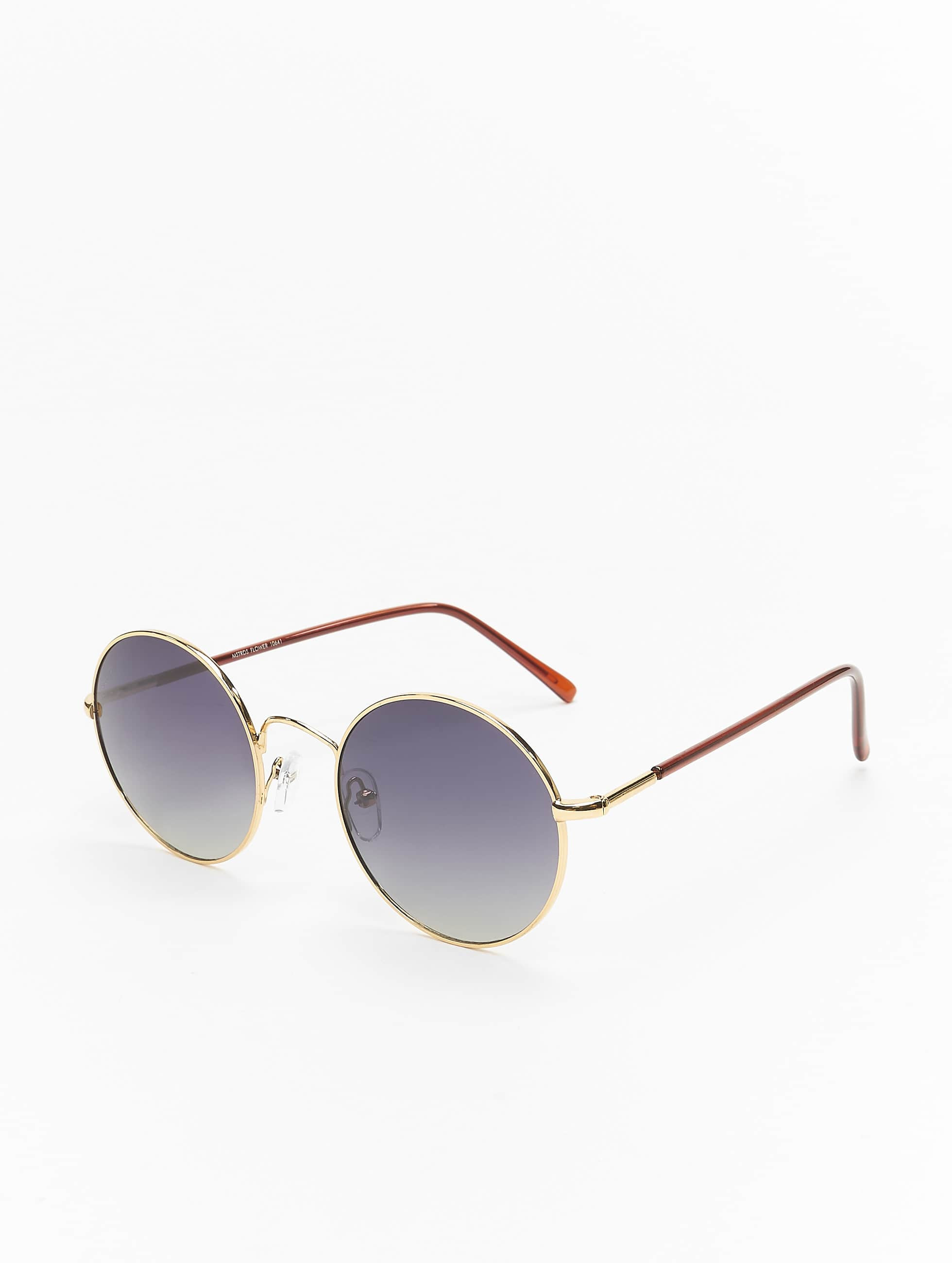MSTRDS Sunglasses Flower Mirror gold colored