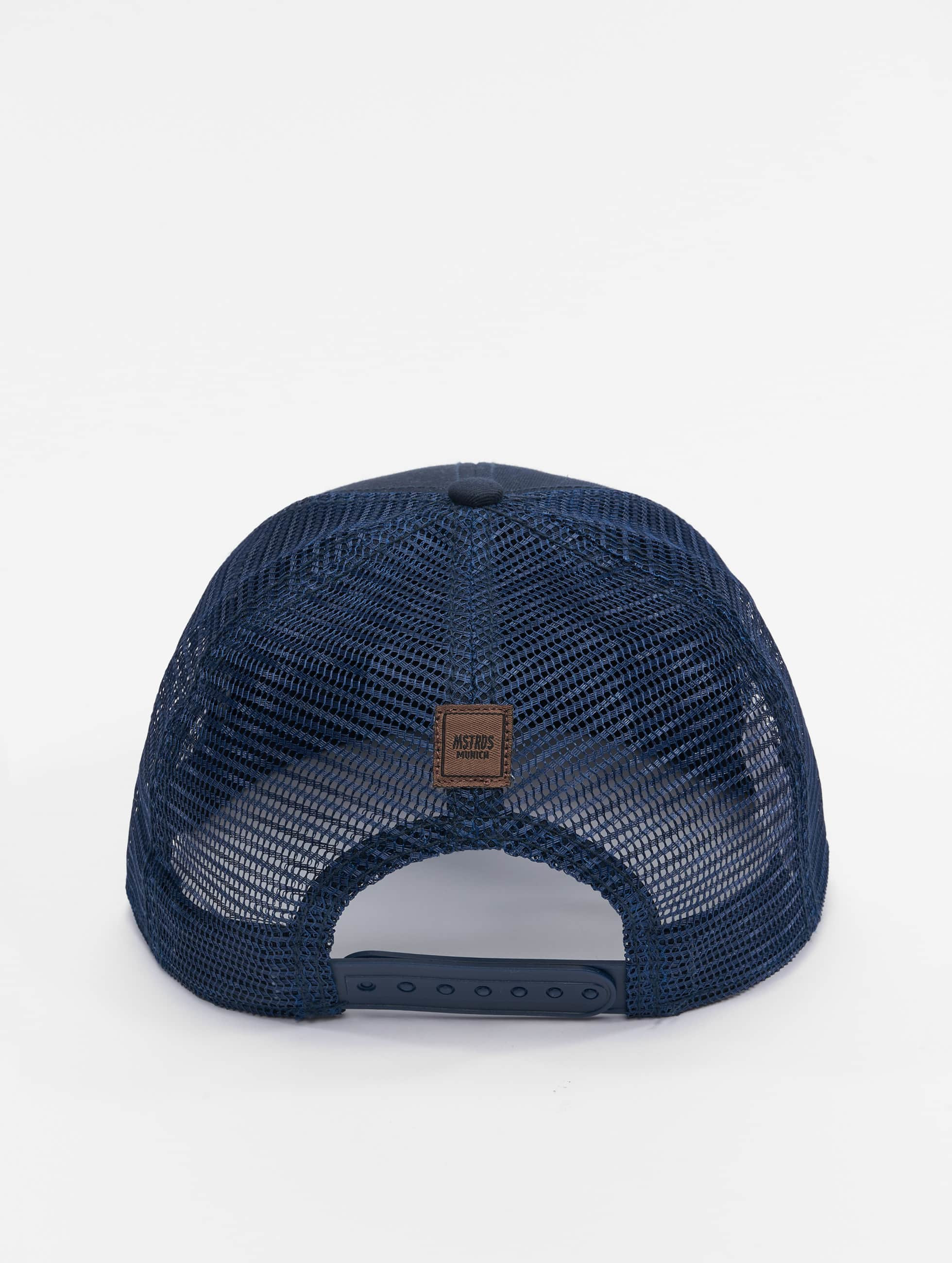 MSTRDS Trucker Cap Money Clip blue