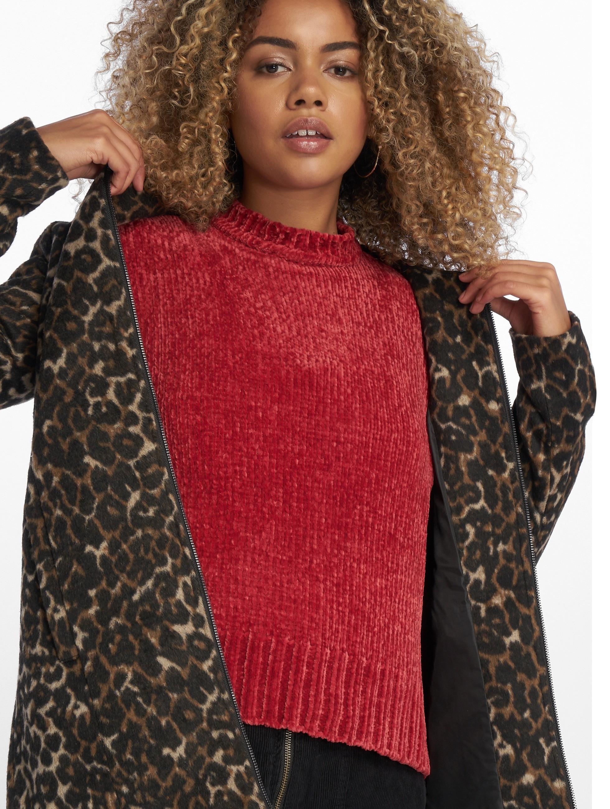 NA KD bovenstuk trui Chenille in rood 603089