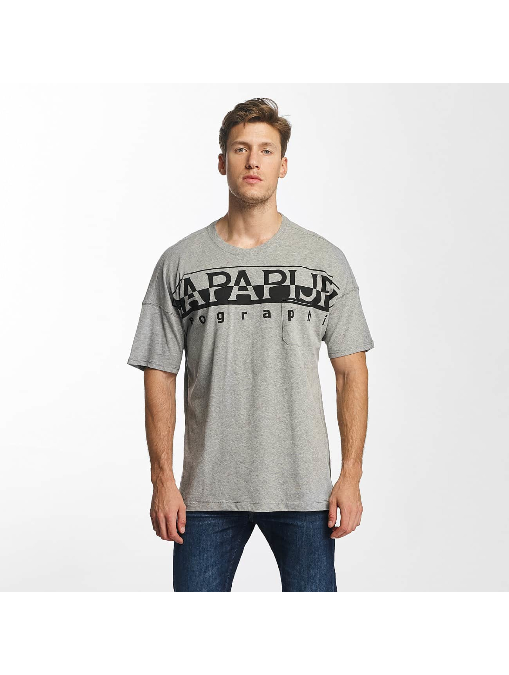 Napapijri T-skjorter Saumur grå