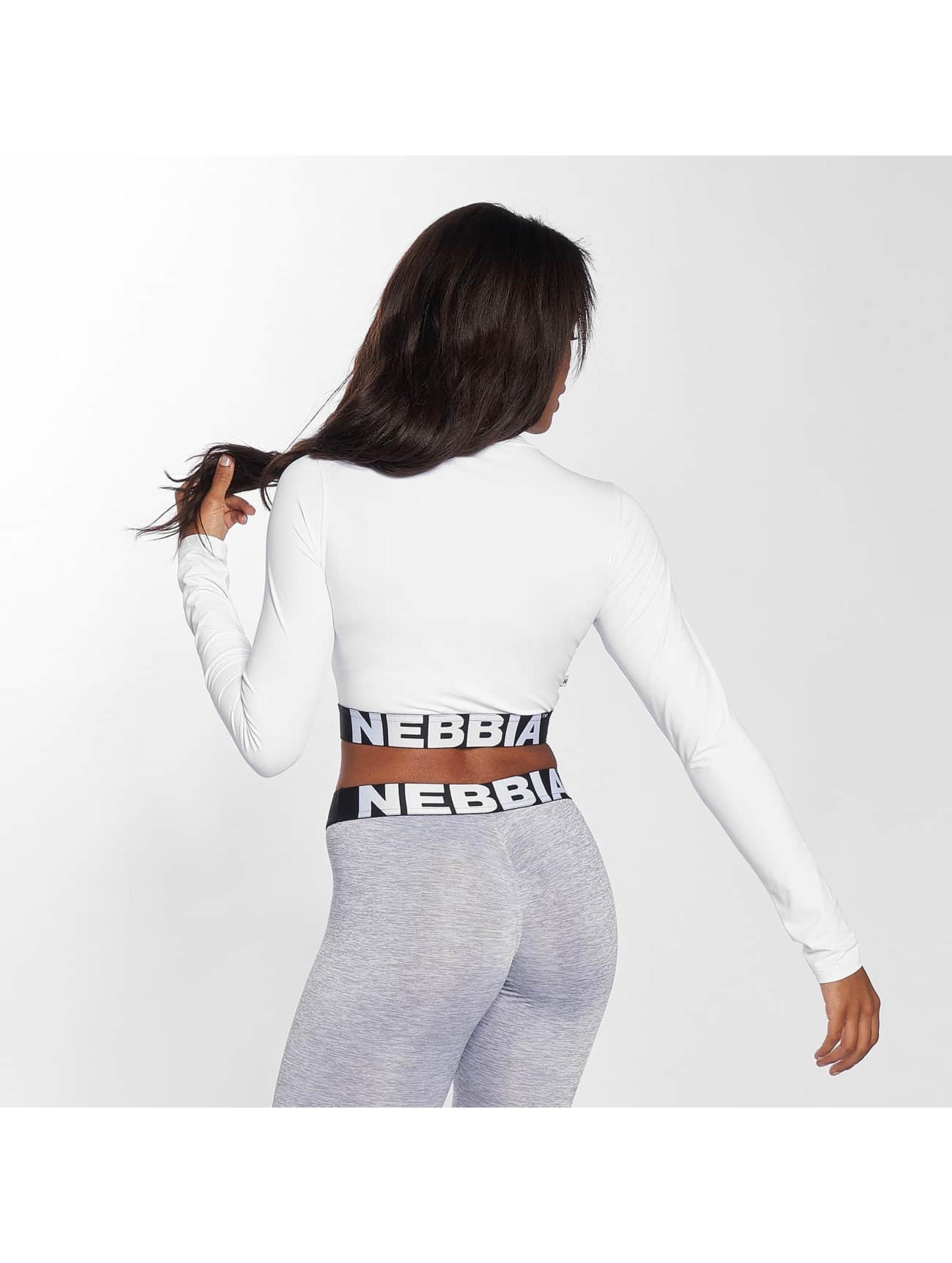 Nebbia Hihattomat paidat Crop valkoinen