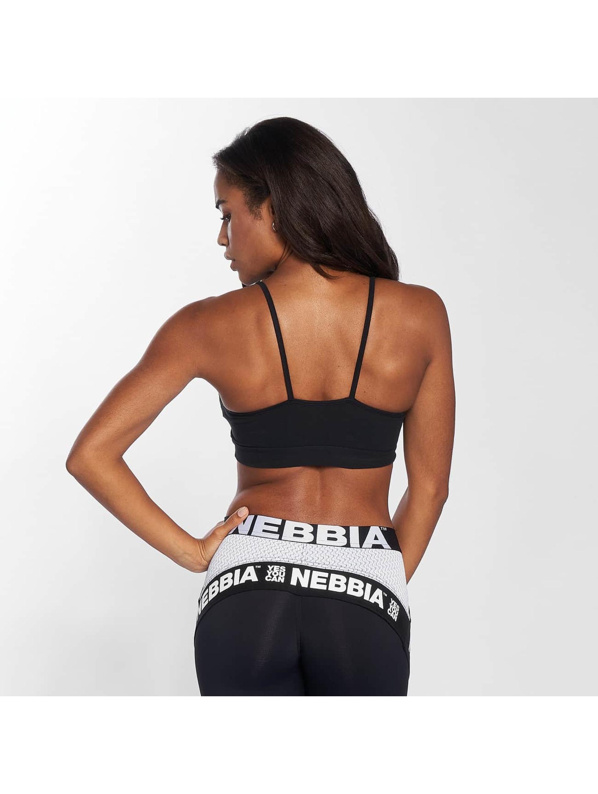 Nebbia Sport BH Logo svart