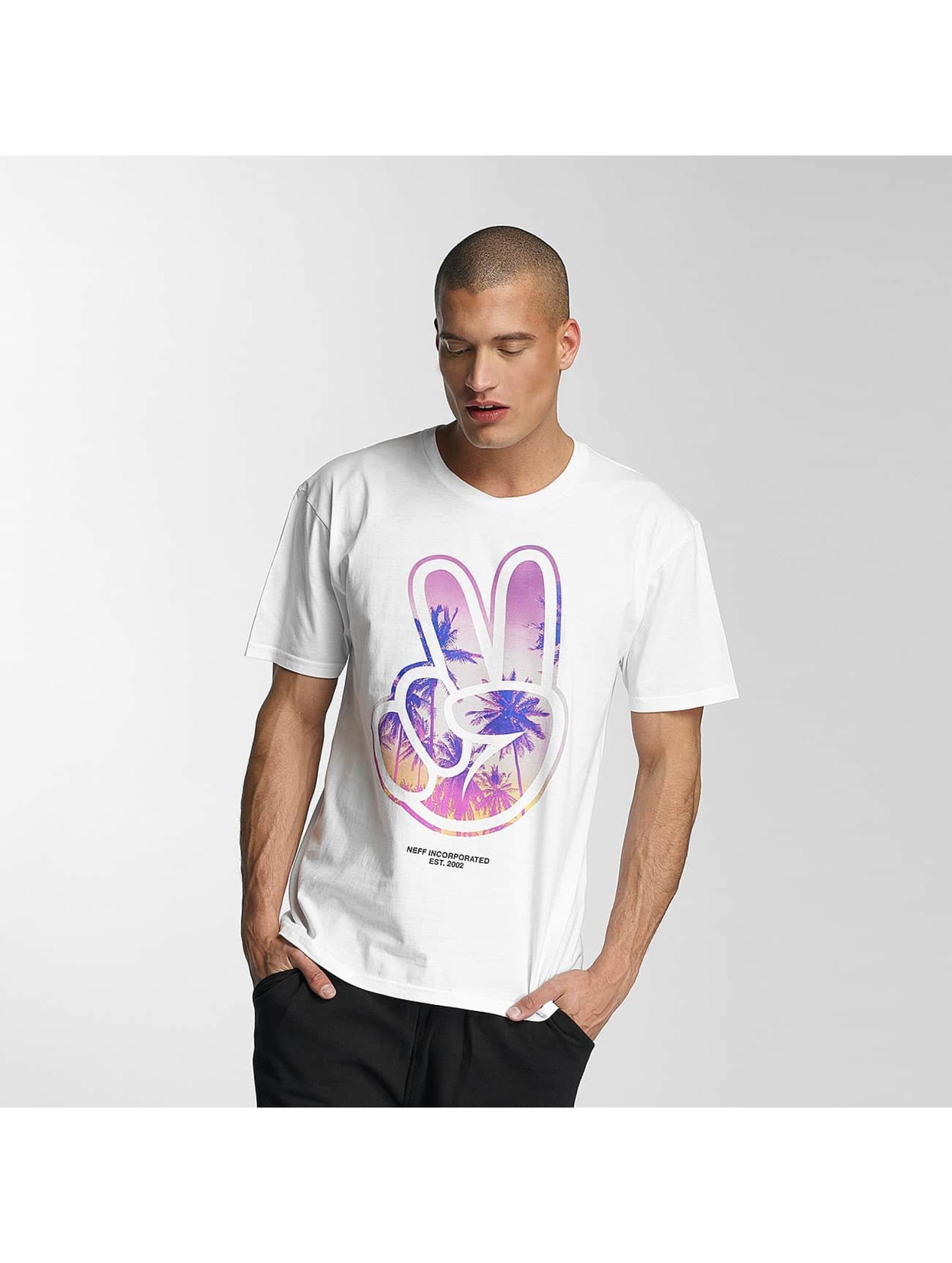 NEFF Haut / T-Shirt Paz en blanc