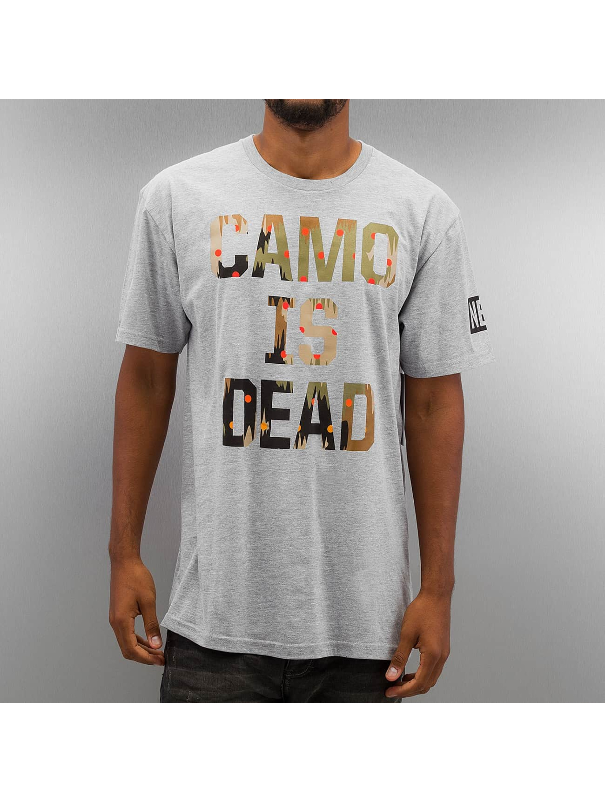 NEFF T-Shirt Camo is Dead grau