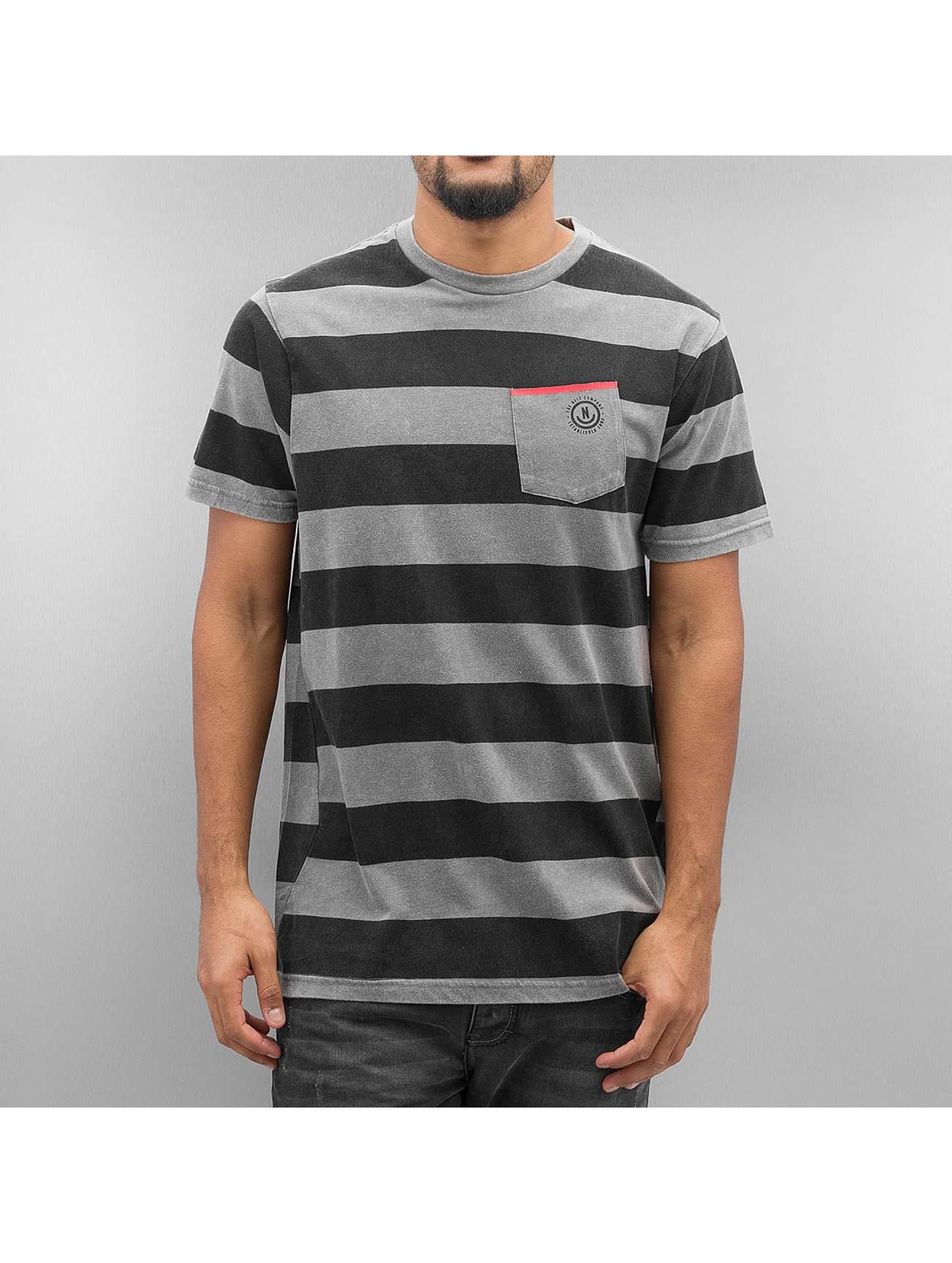 NEFF T-Shirt Christoph Washed Stripe grey