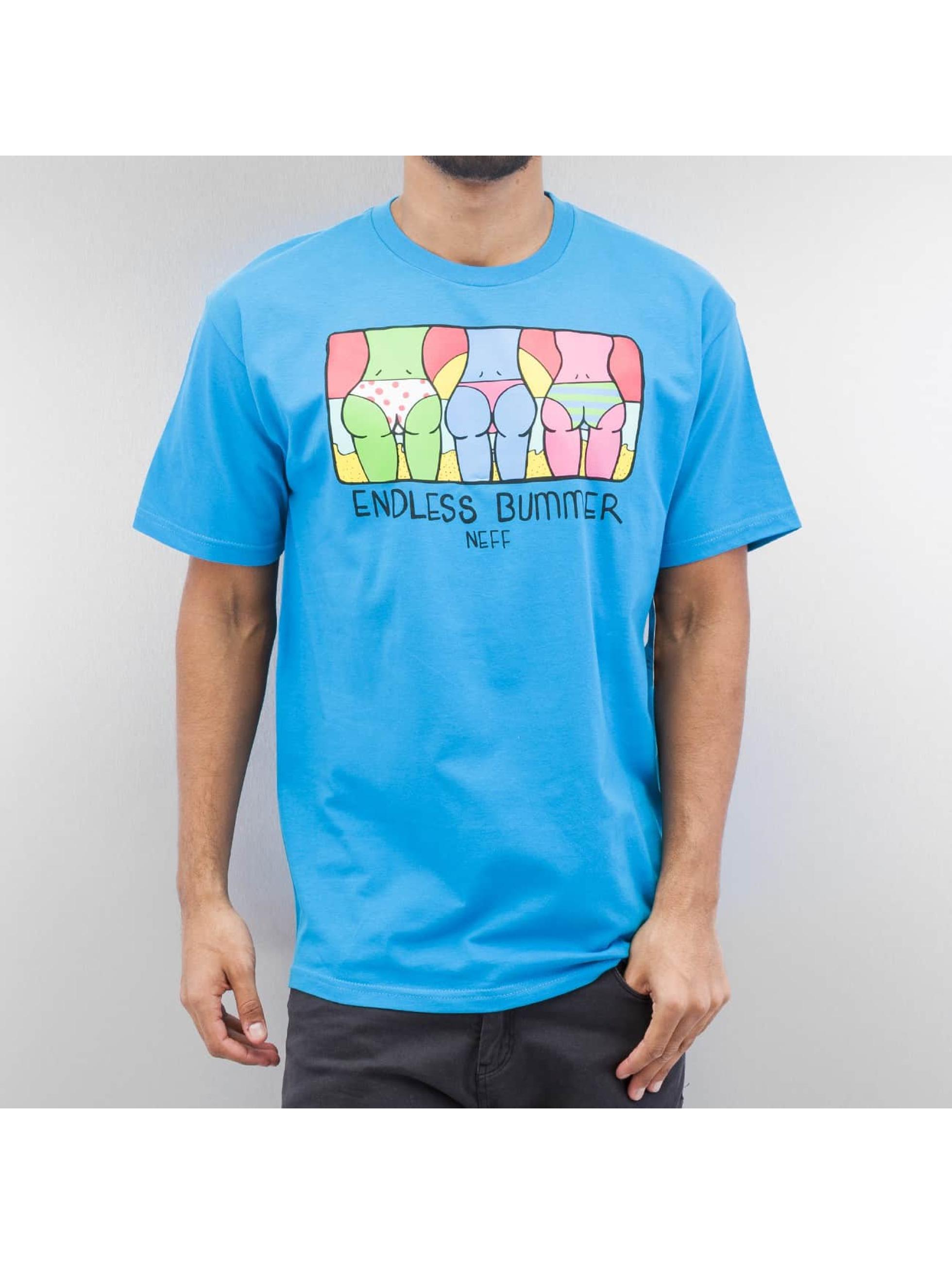 NEFF T-skjorter Endless Bummer turkis