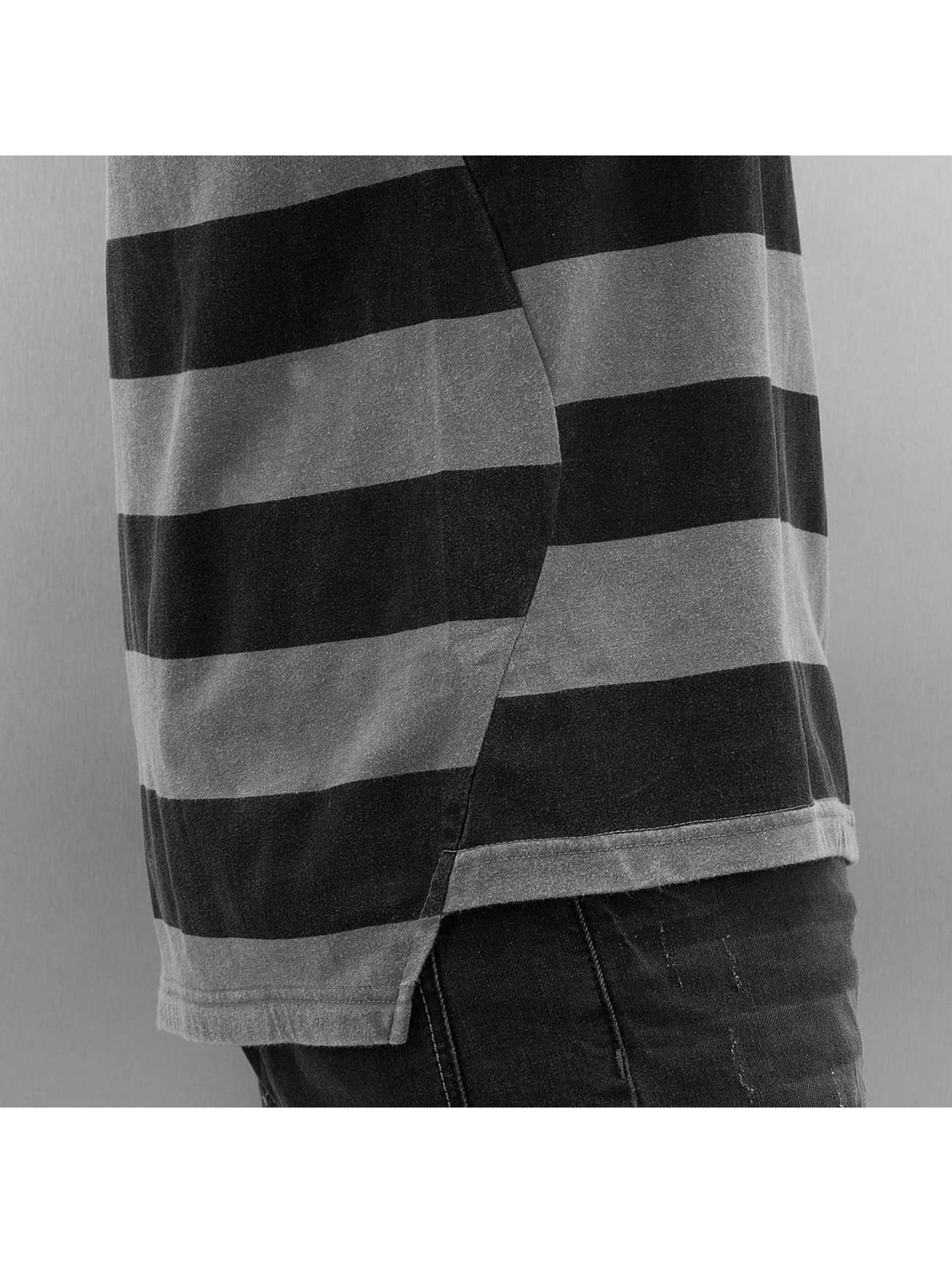 NEFF Tričká Christoph Washed Stripe šedá