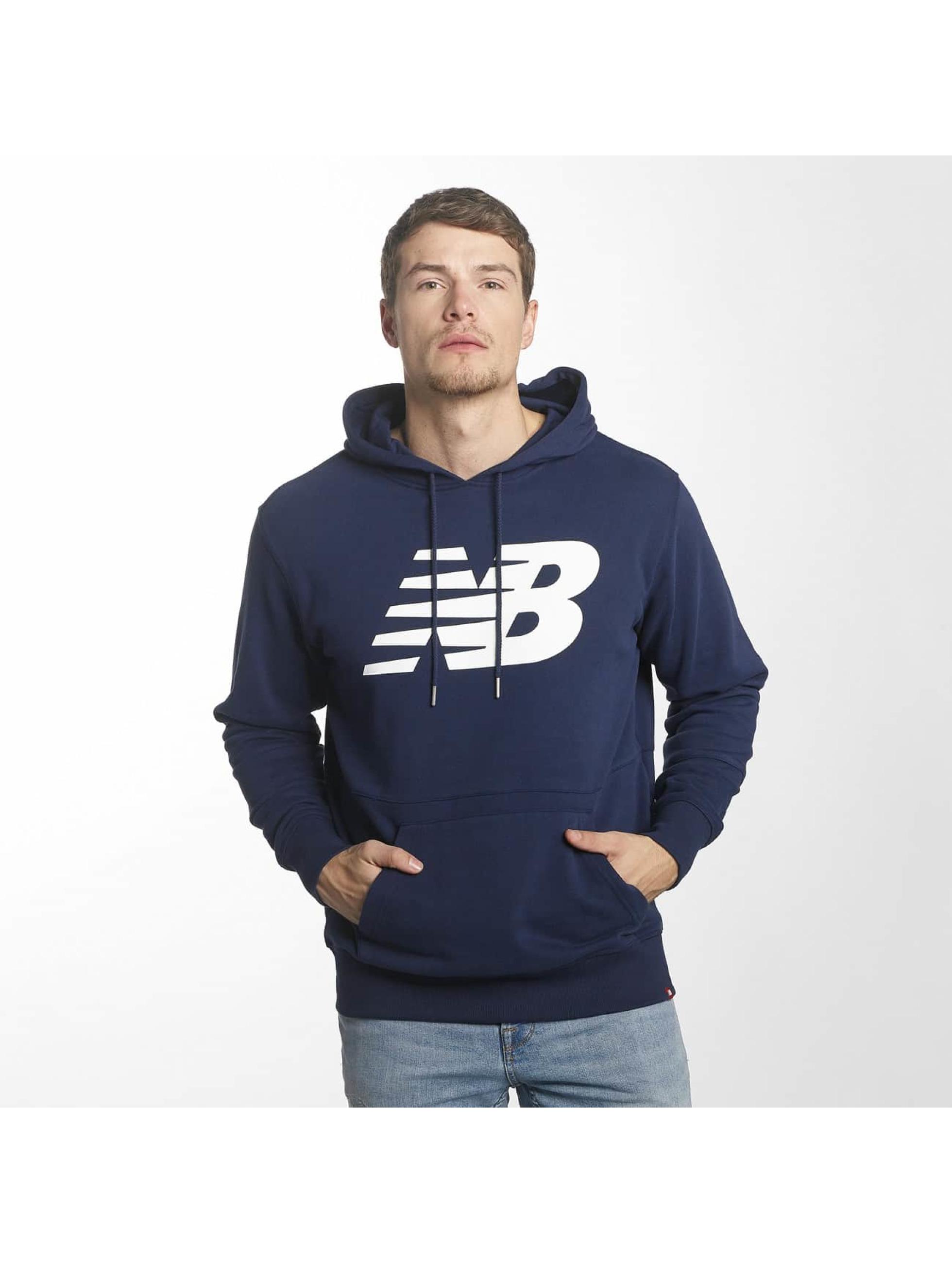 New Balance Bluzy z kapturem MT81557 Essentials niebieski