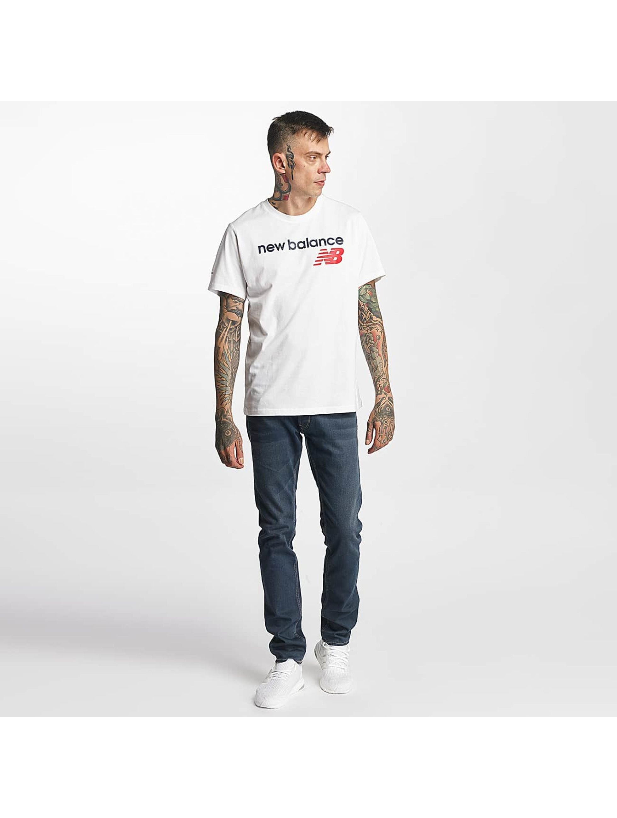 New Balance T-Shirty Athletic Main LG bialy