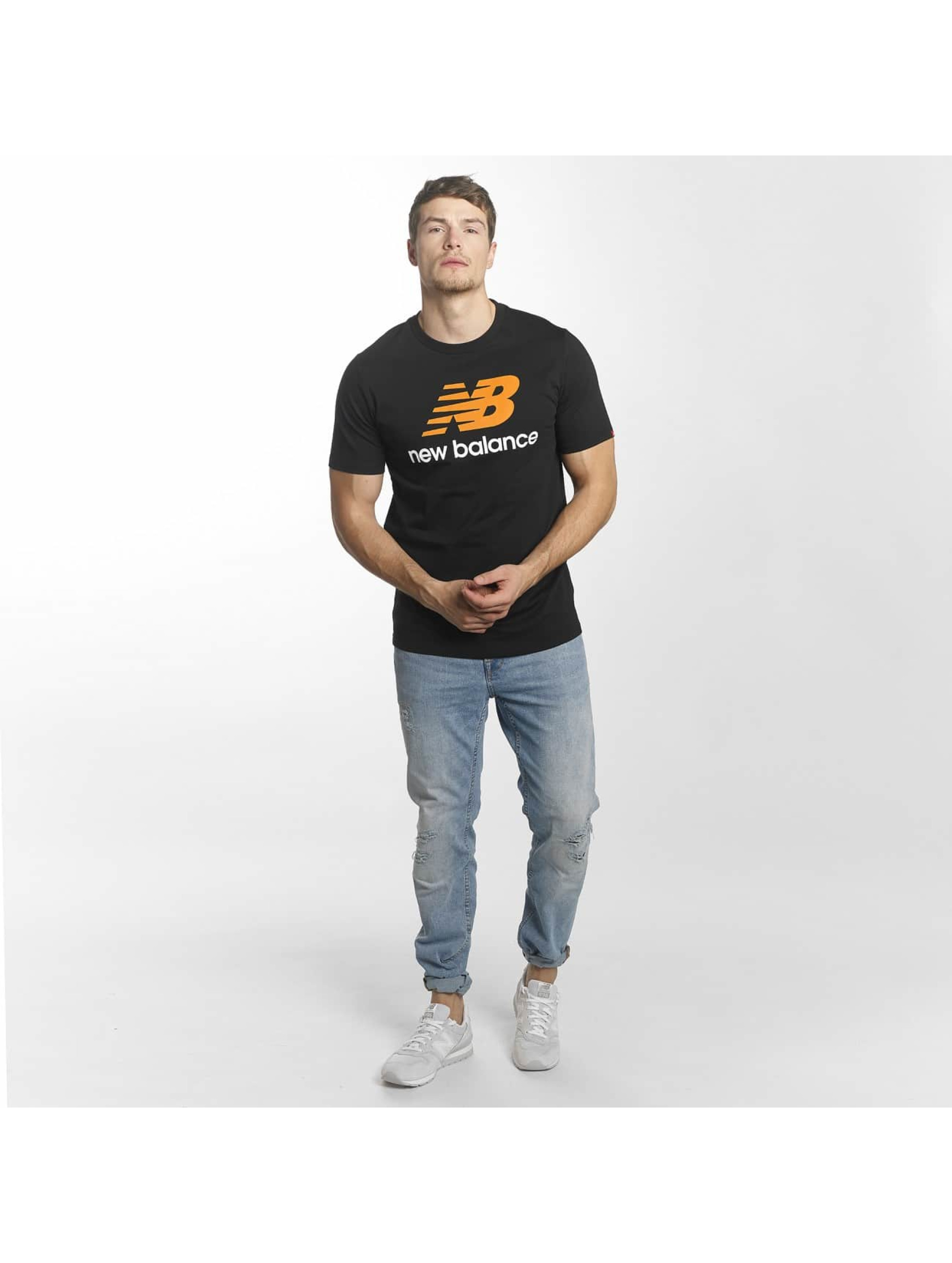 New Balance T-Shirty MT73587 Essentials czarny