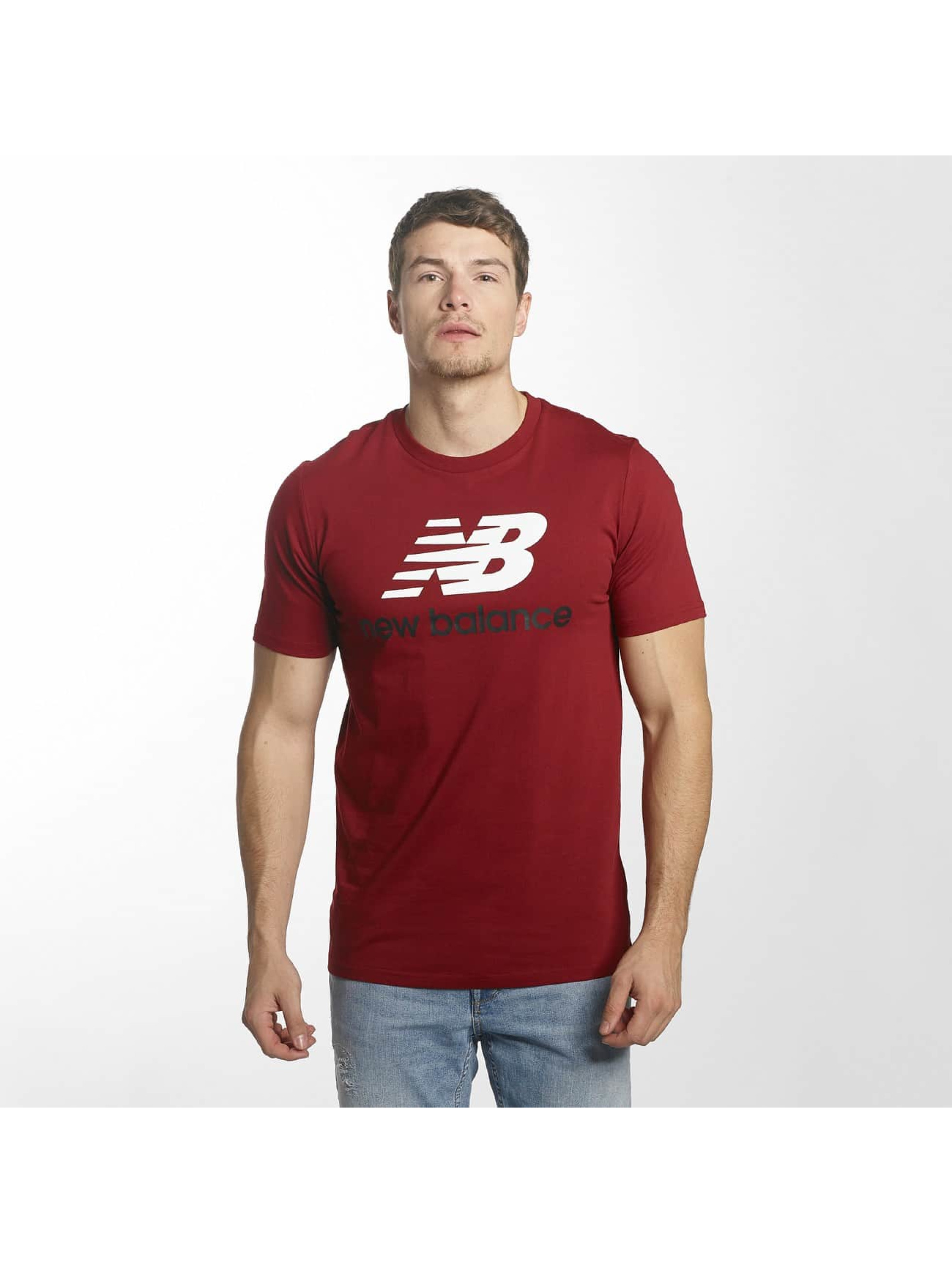 New Balance T-Shirty MT73587 Essentials czerwony
