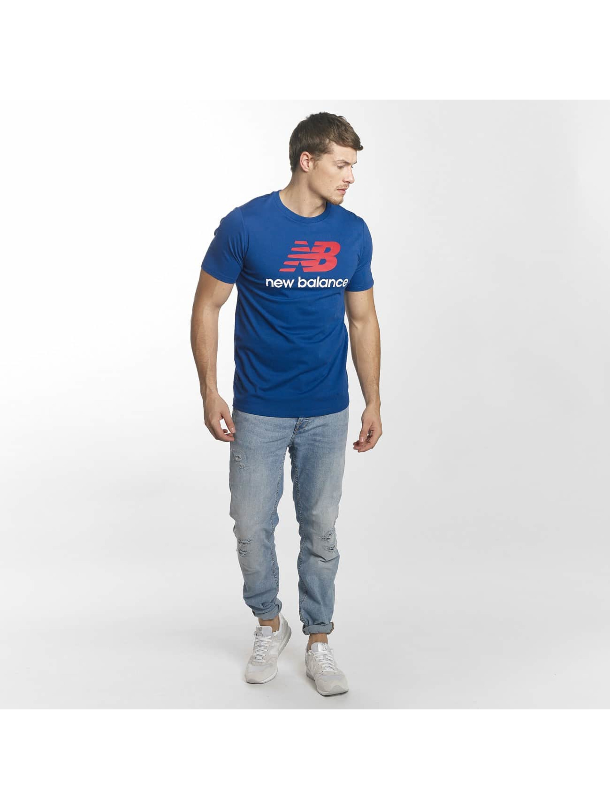 New Balance T-Shirty MT73587 Essentials niebieski