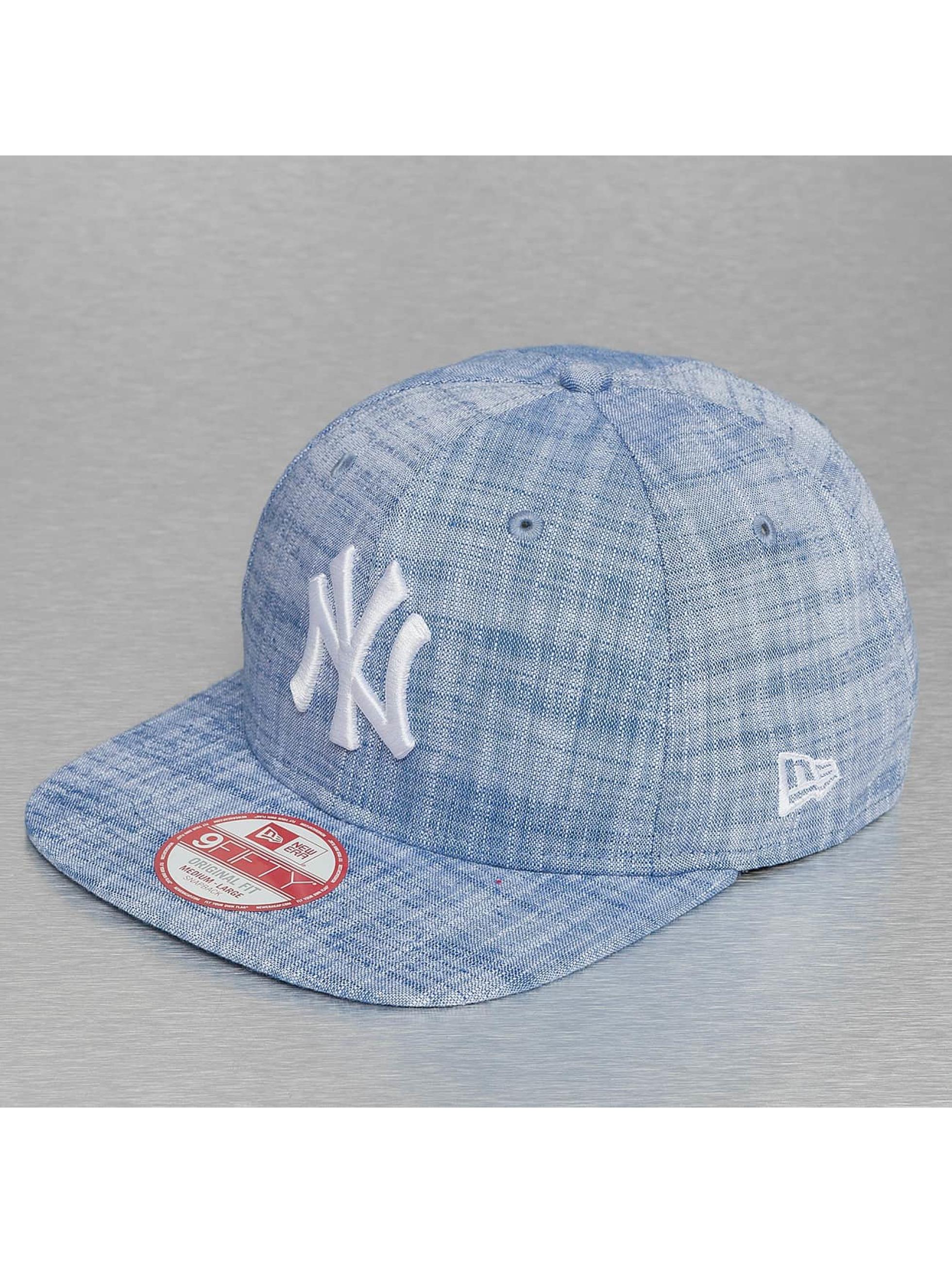 New Era Кепка с застёжкой MLB Chambray NY Yankees синий