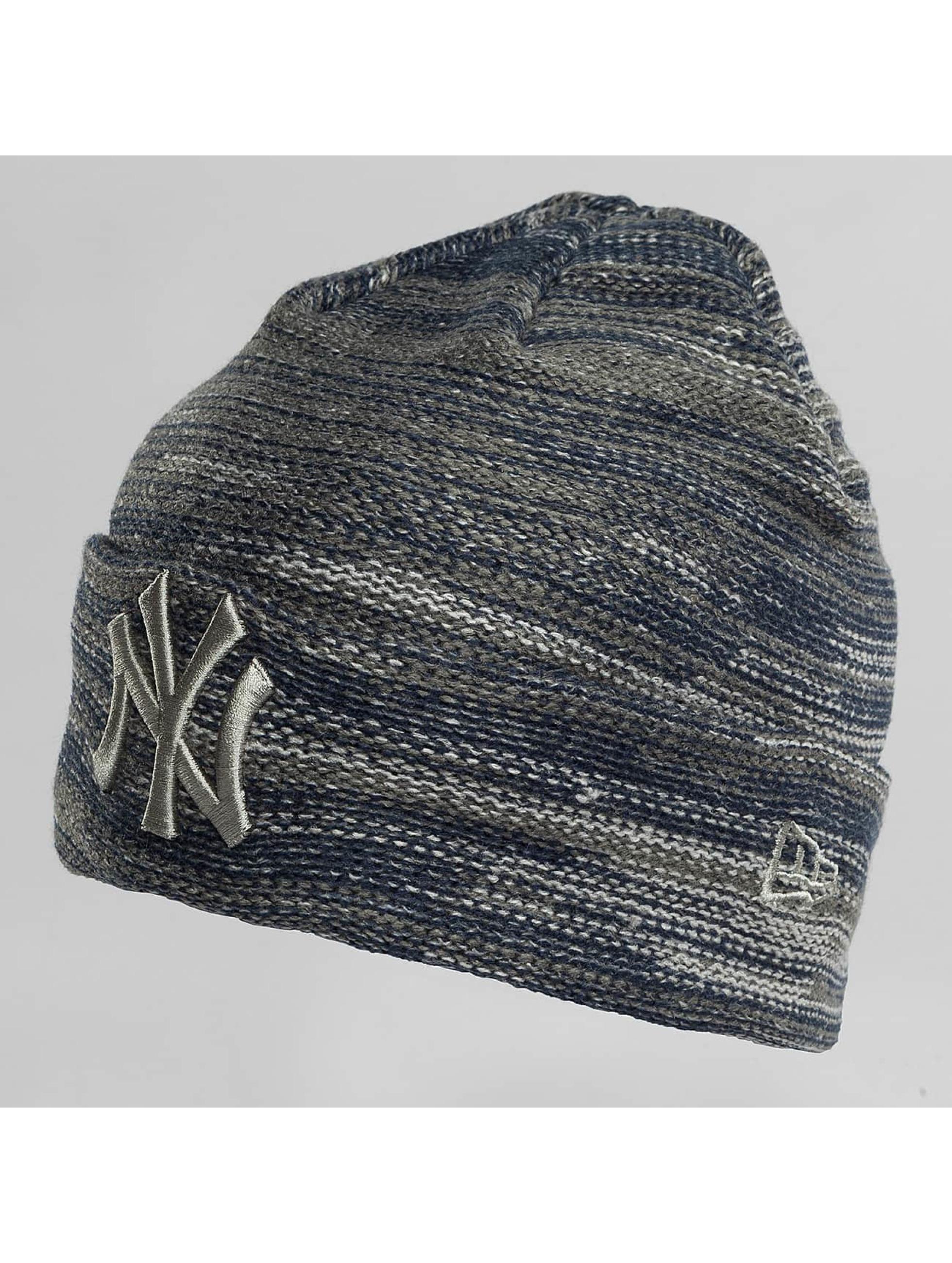 New Era Bonnet Marl Cuff NY Yankees bleu
