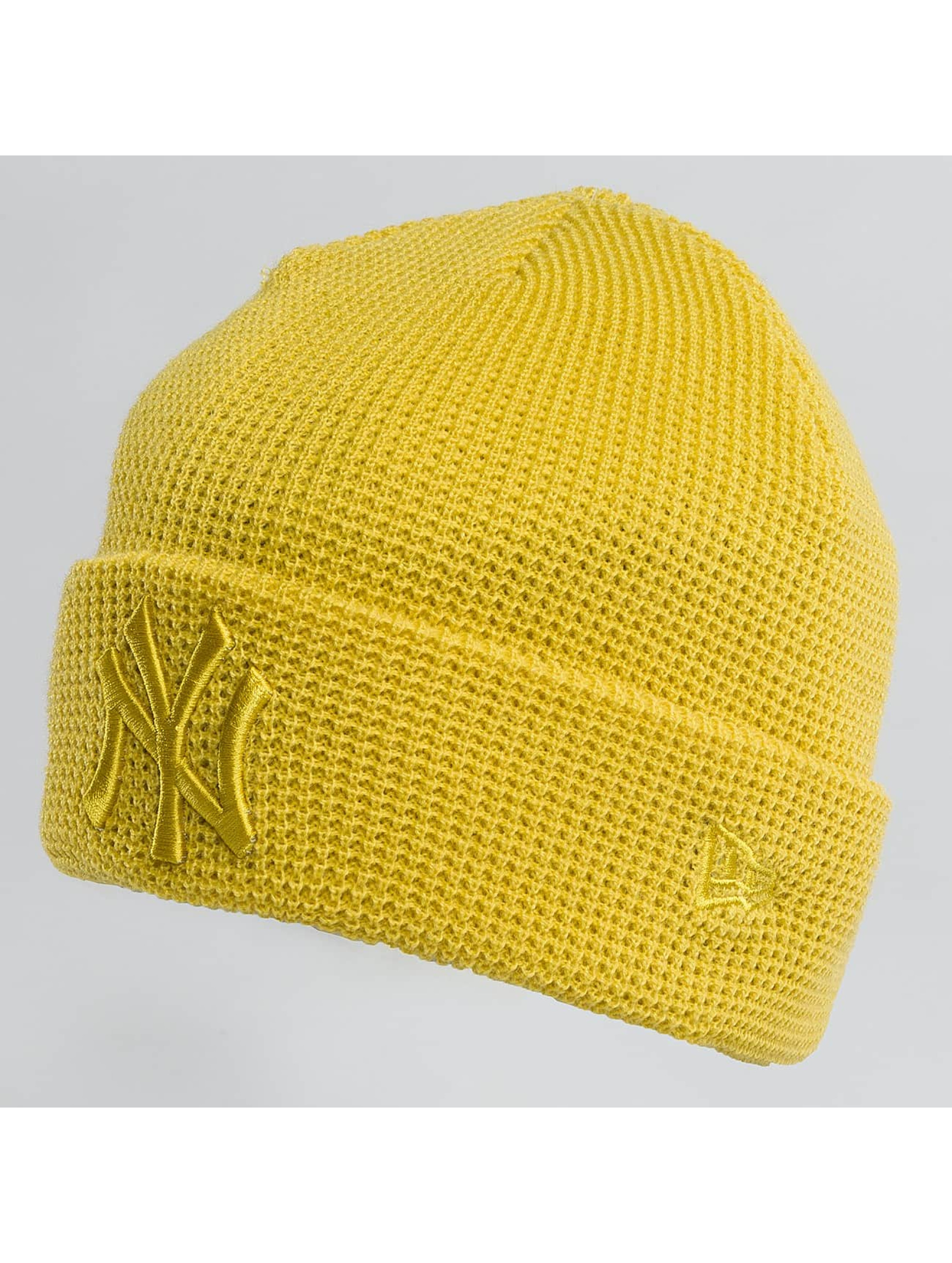 New Era Bonnet New Era Essential Waffle Knit NY Yankees Beanie Open Market jaune
