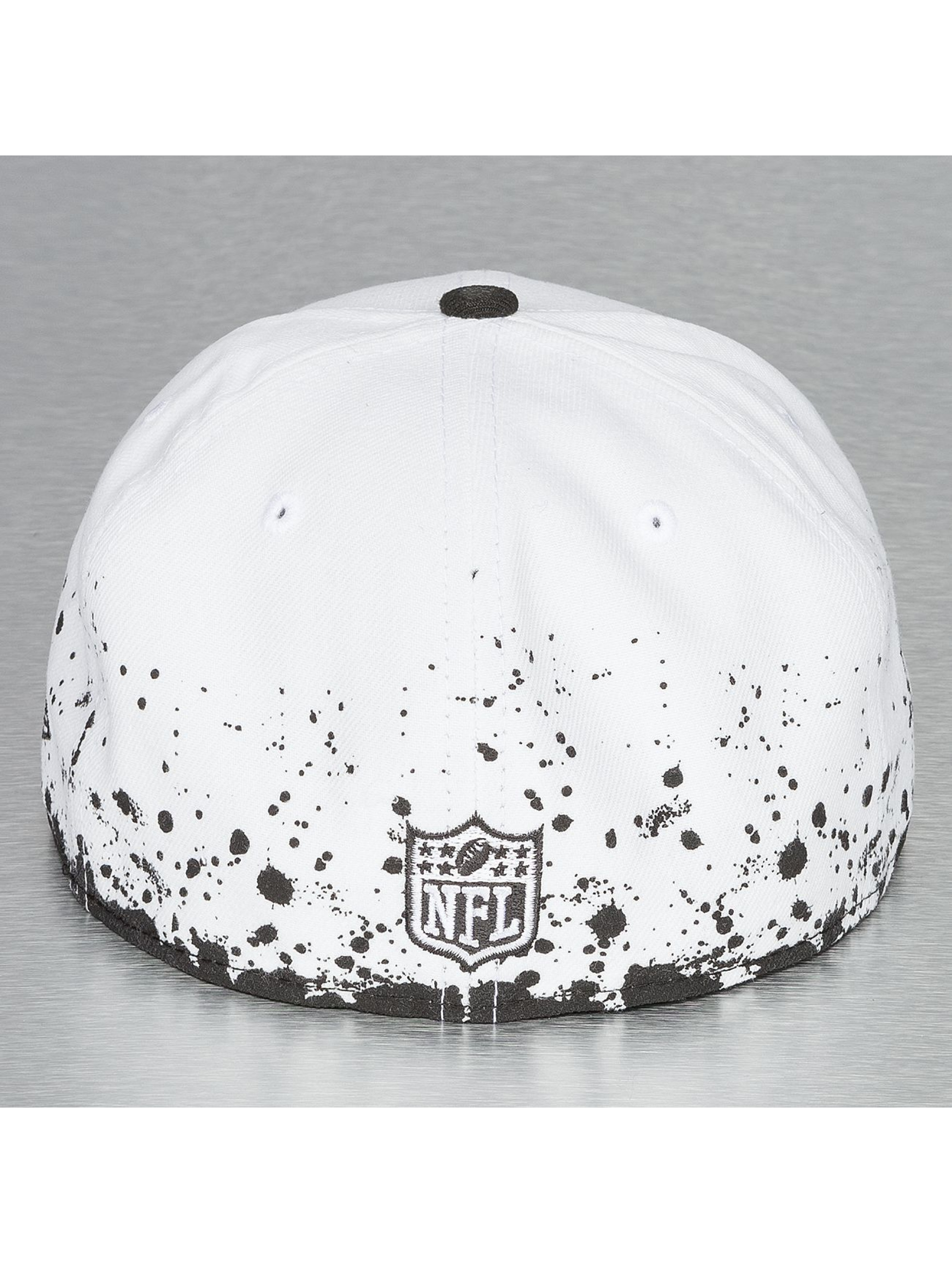 New Era Casquette Fitted Panel Splatter Oakland Raiders 59Fifty blanc