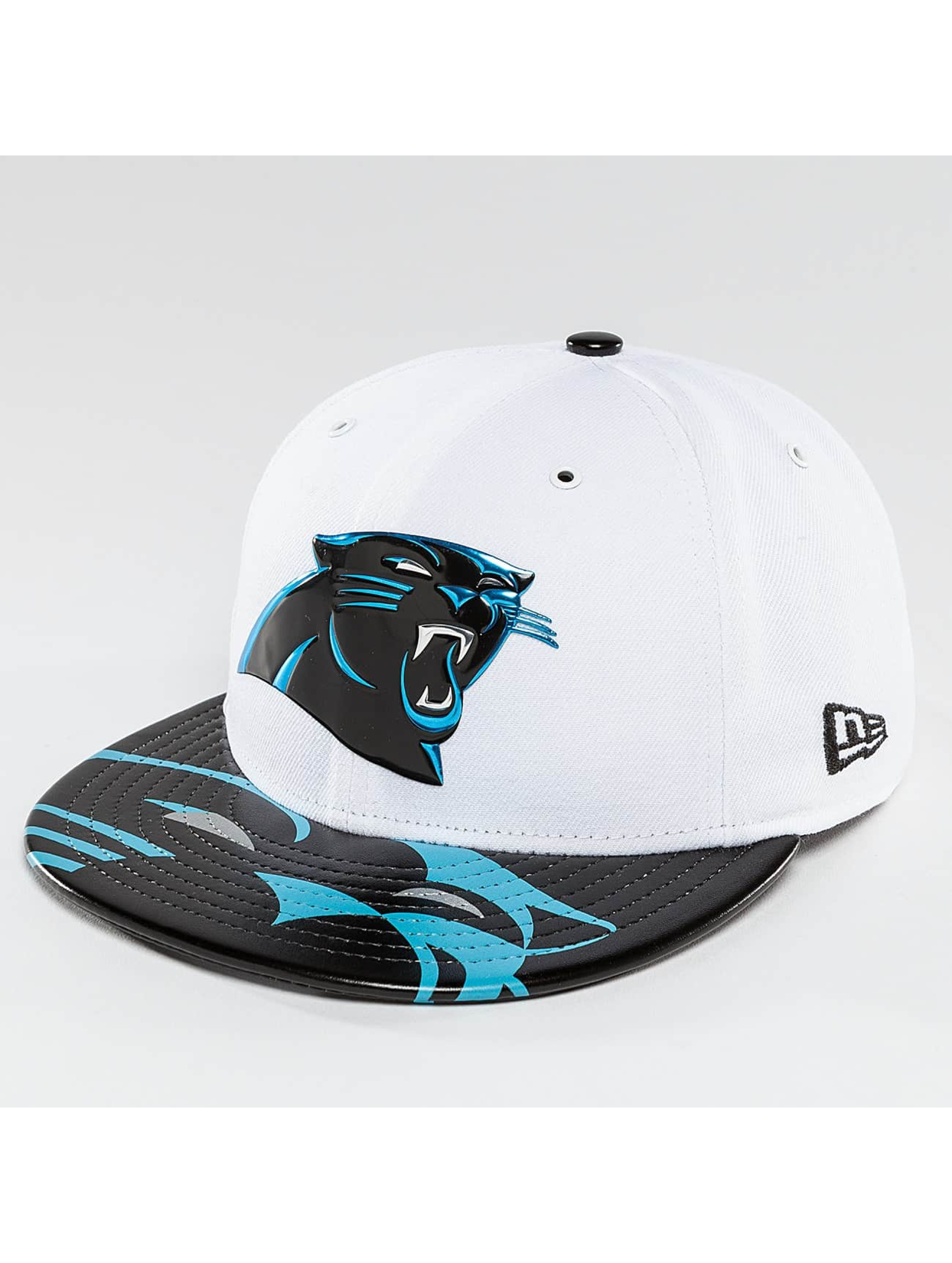 New Era Casquette Fitted NFL Offical On Stage Carolina Panthers blanc
