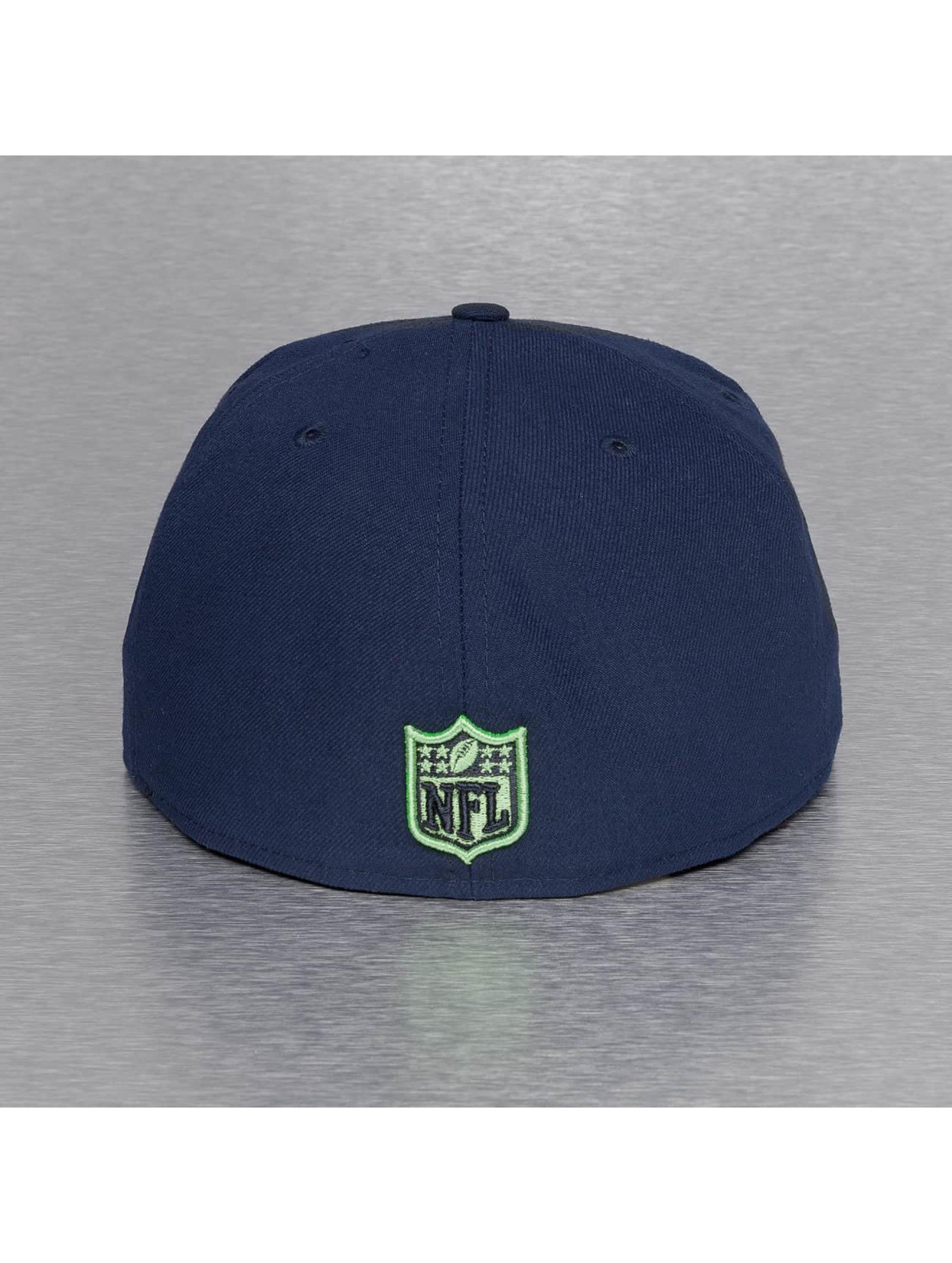 New Era Casquette Fitted On Field 15 Sideline Seattle Seahawks bleu