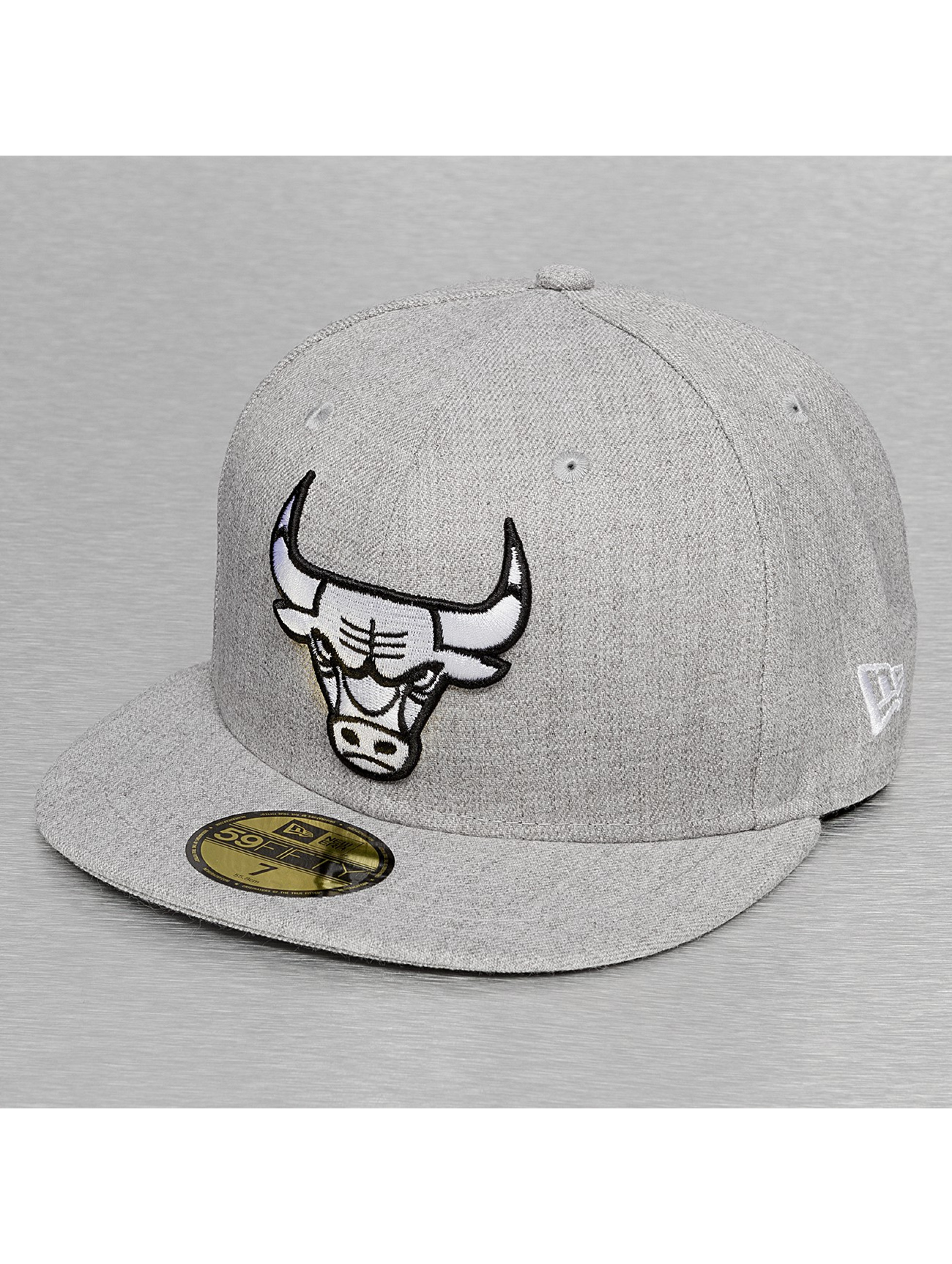 New Era Casquette Fitted Chicago Bulls gris
