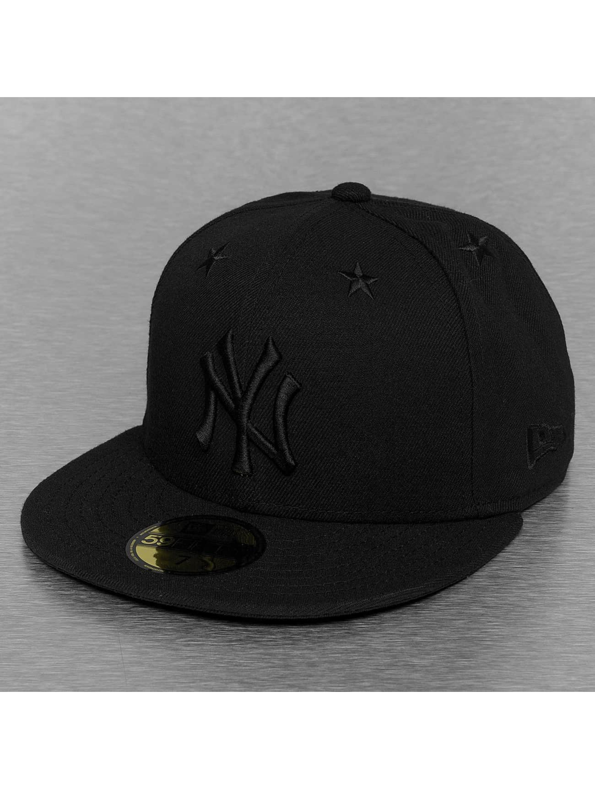 New Era Casquette Fitted MLB NY Yankees Star Crown noir