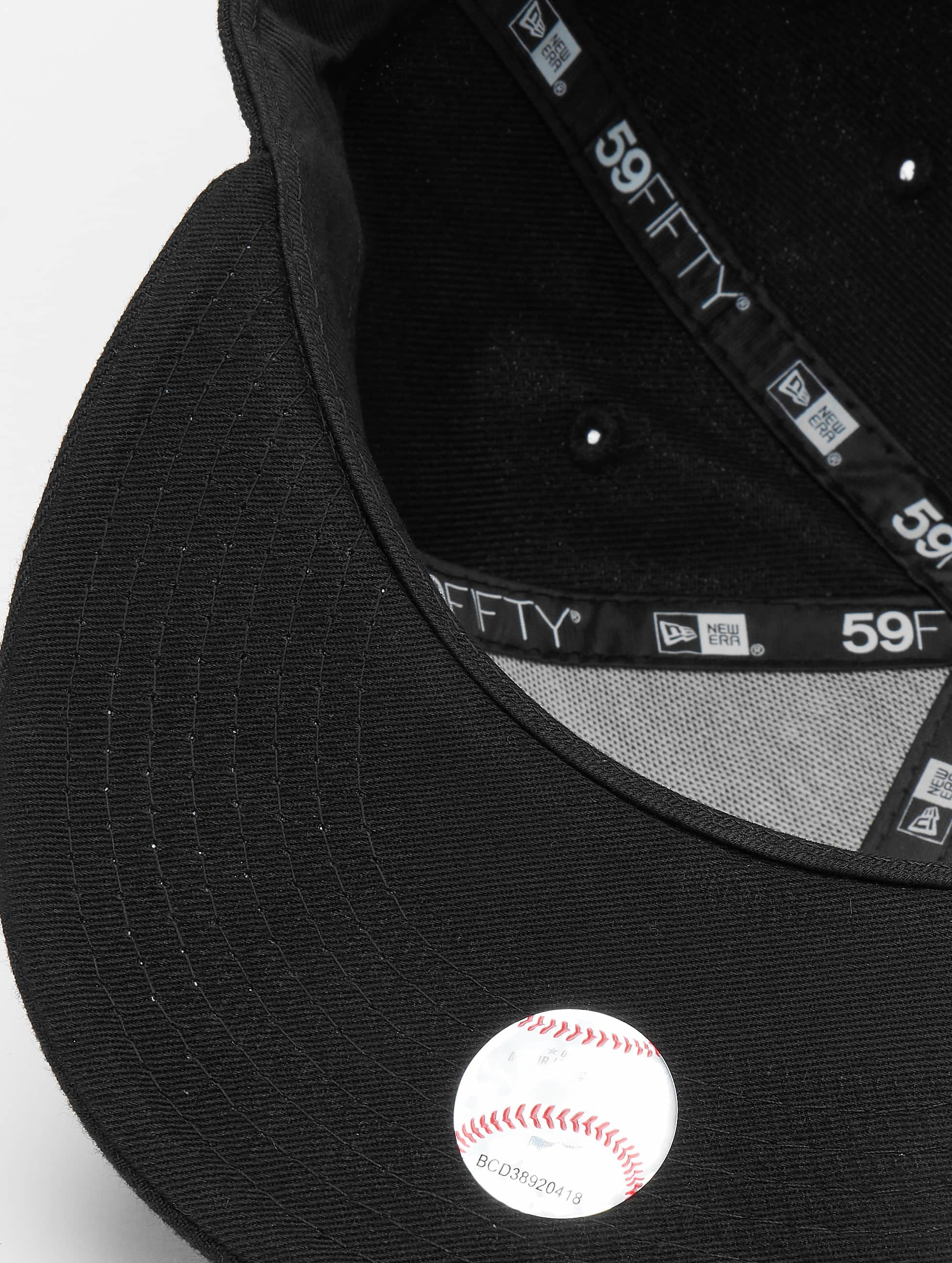 New Era Casquette Fitted Black On Black NY Yankees noir