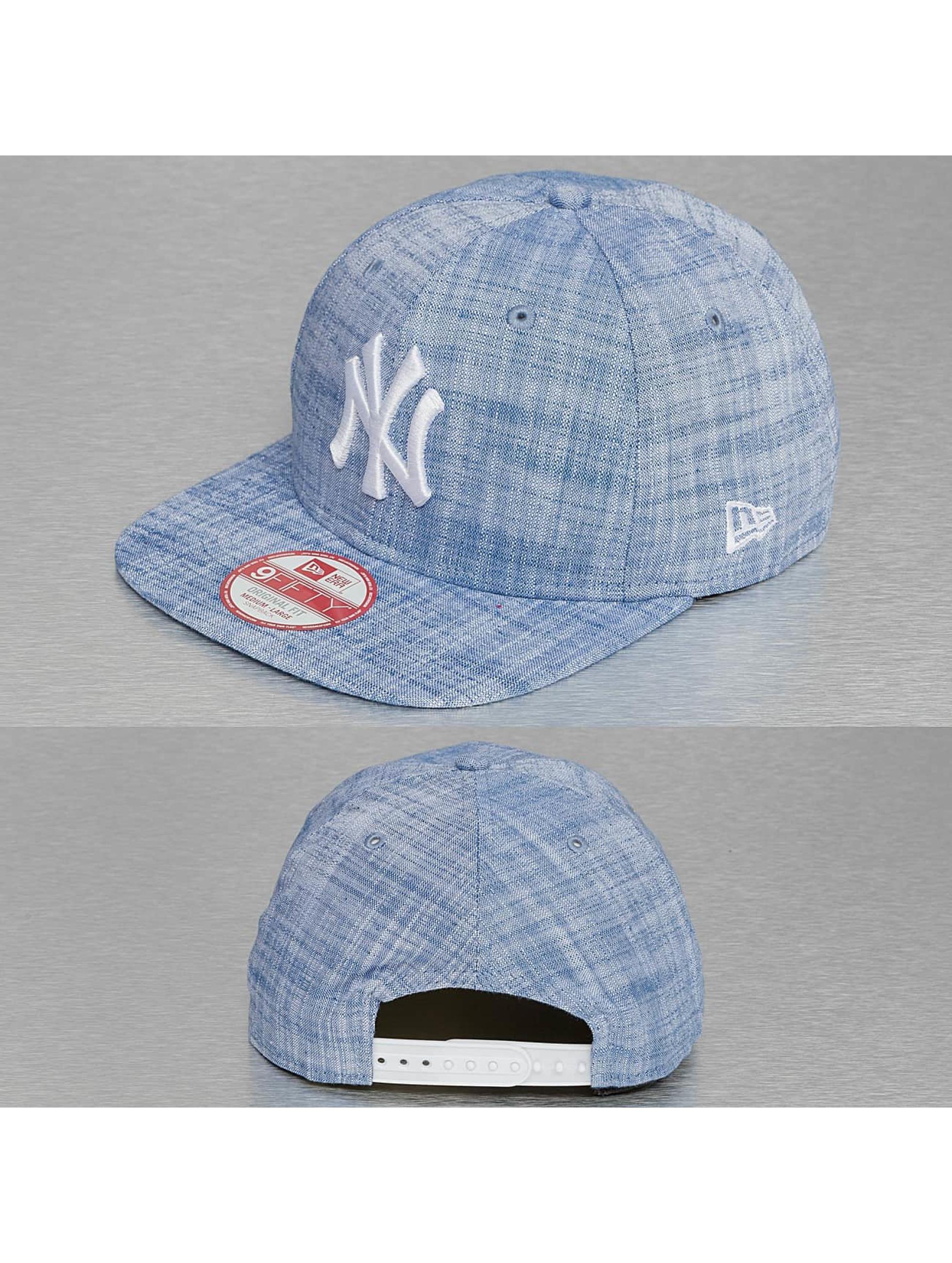 New Era Casquette Snapback & Strapback MLB Chambray NY Yankees bleu