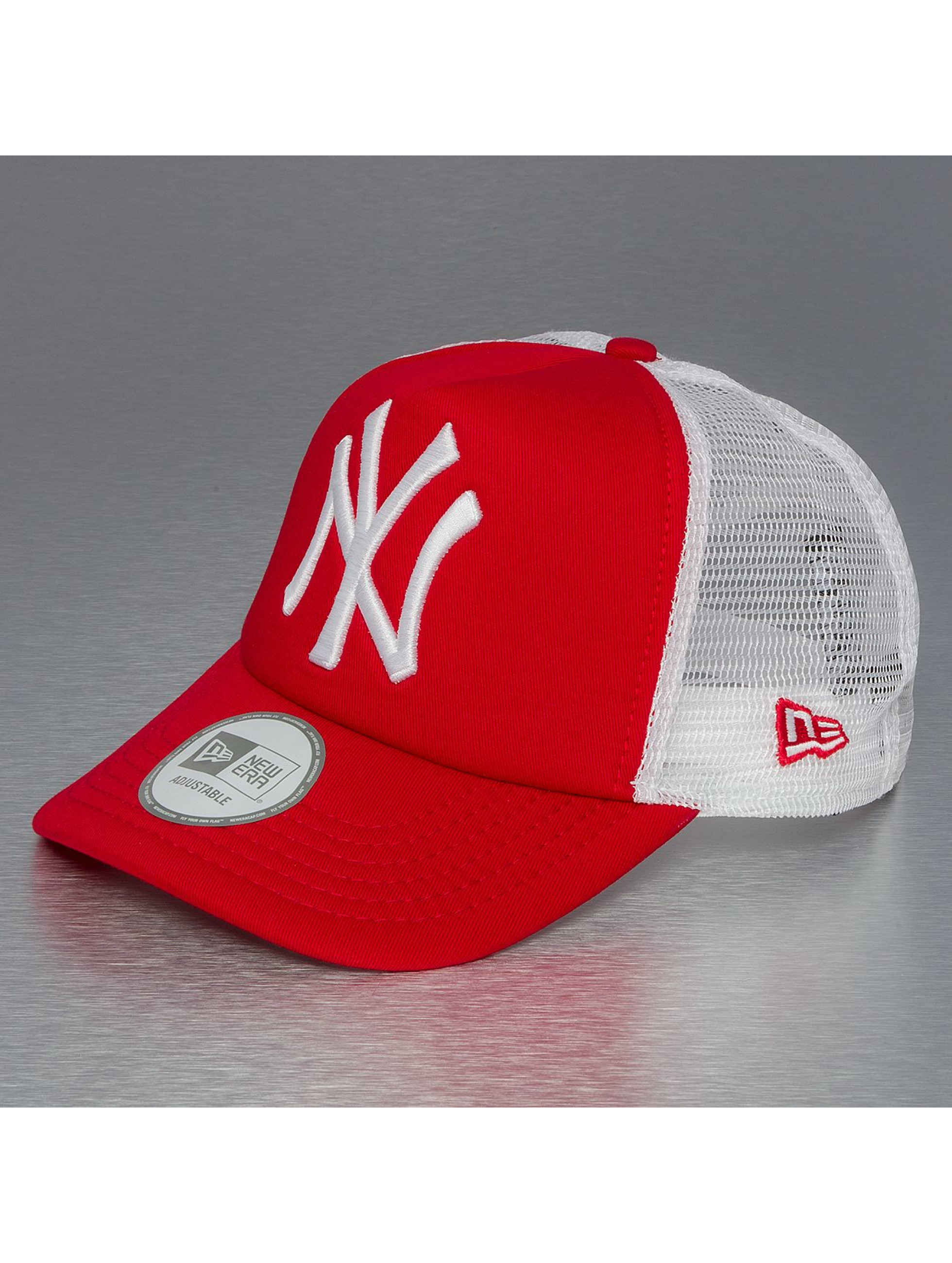 new era clean ny yankees rouge casquette trucker mesh. Black Bedroom Furniture Sets. Home Design Ideas