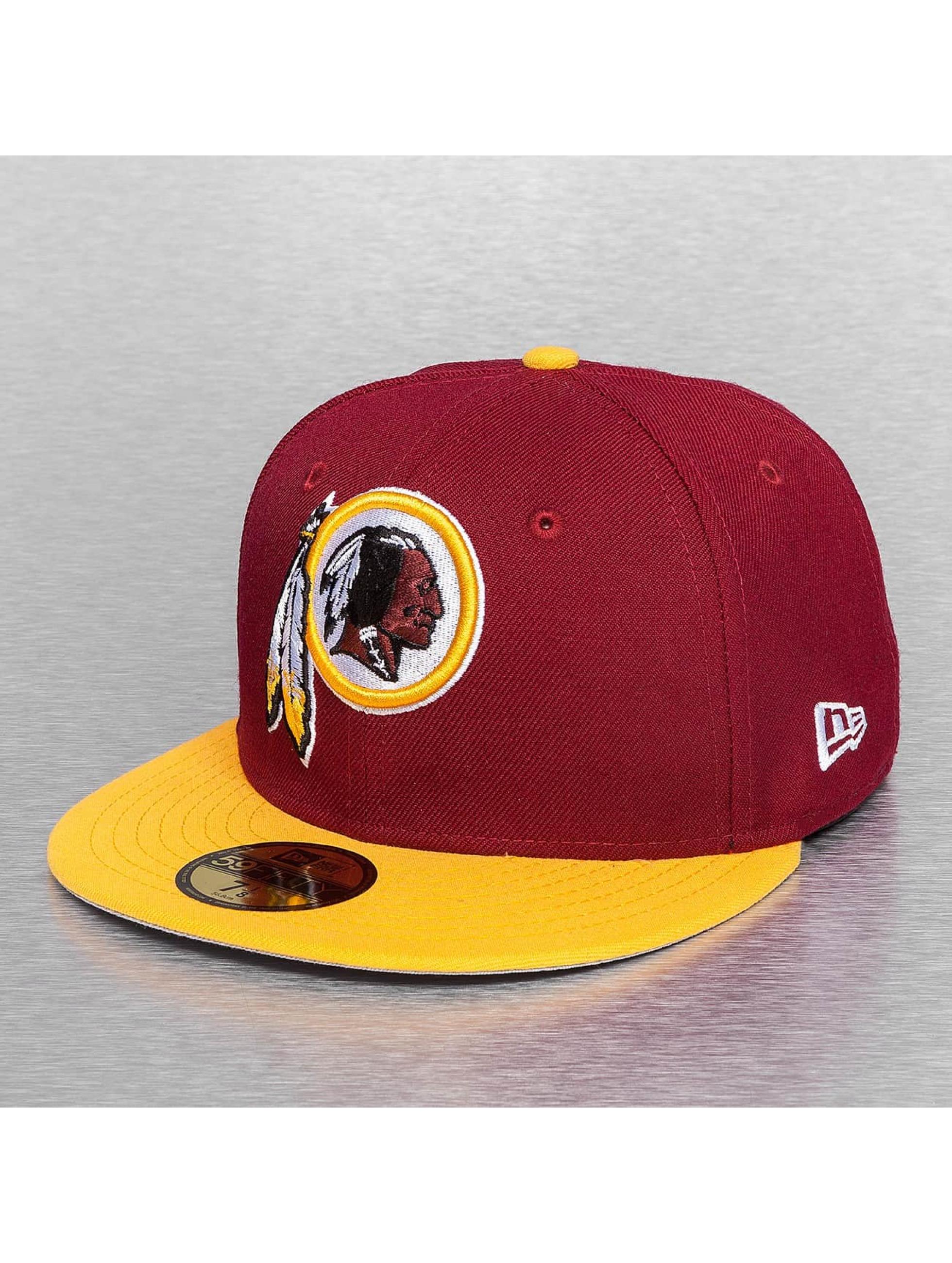 New Era Fitted Cap On Field 15 Sideline Washington Redskins èervená