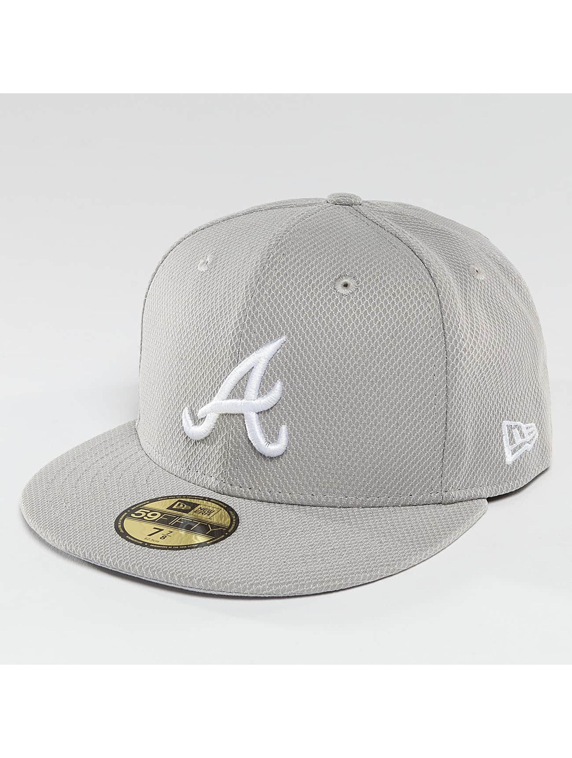 New Era Fitted Cap Diamond Era Essential Atlanta Braves 59Fifty šedá