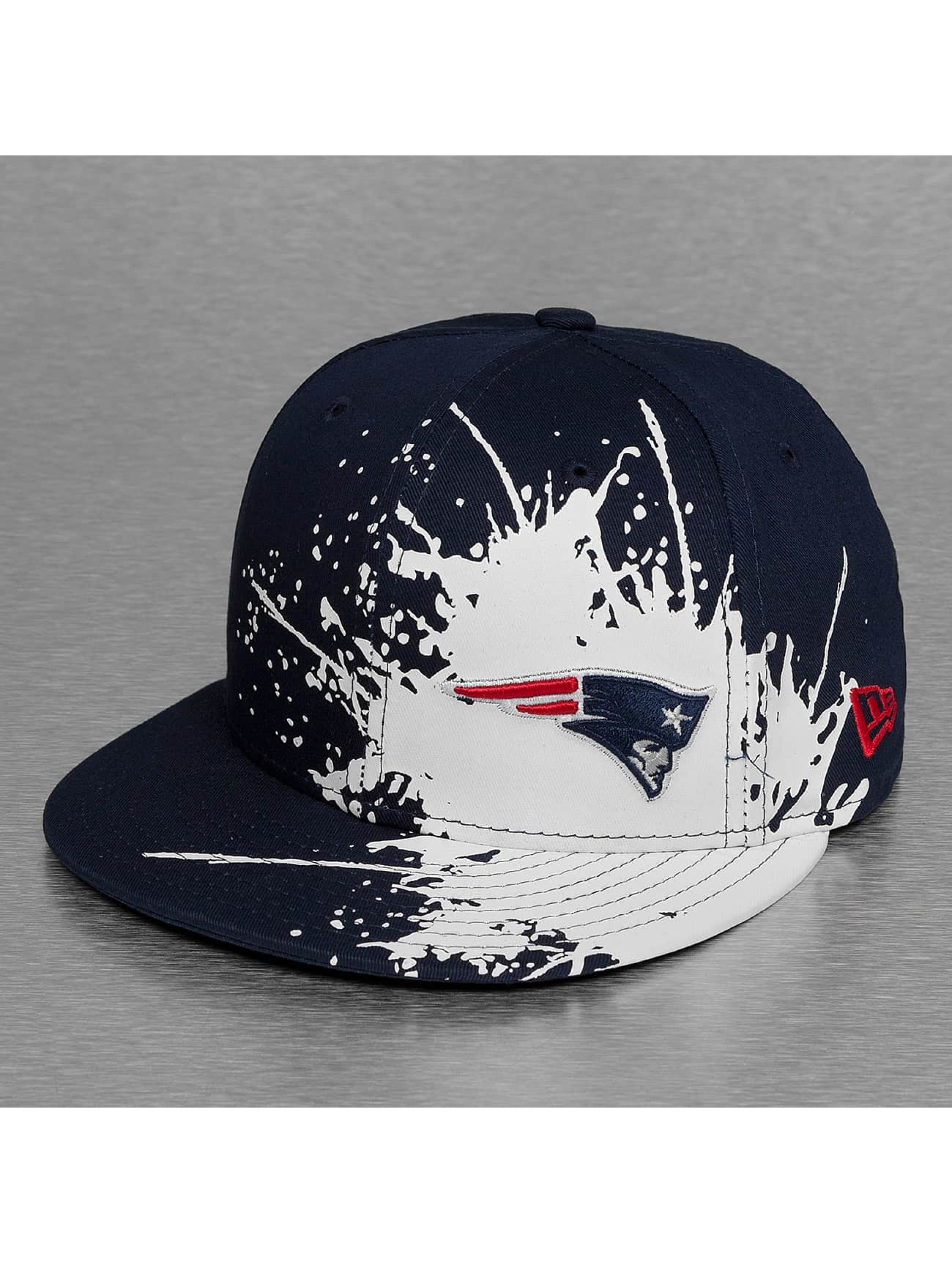 New Era Fitted Cap Splatways New England Patriots blau