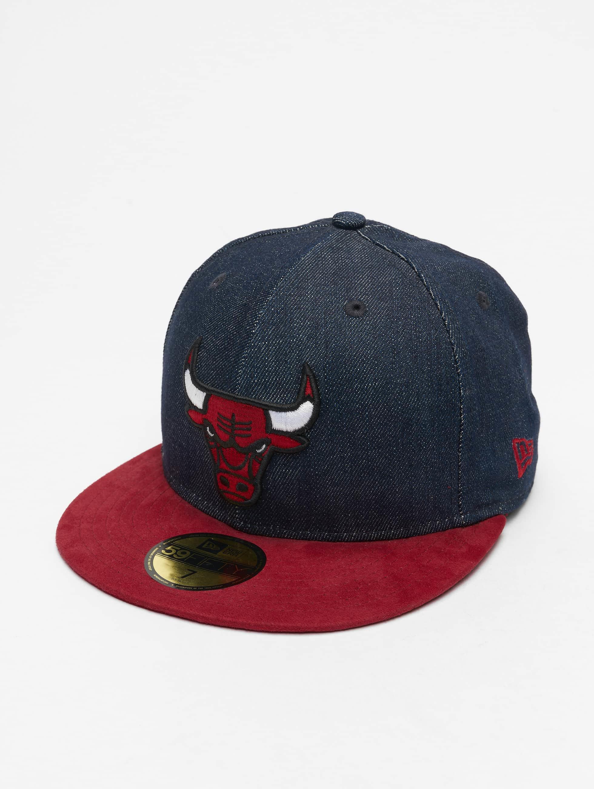 New Era Fitted Cap Denim Suede Chicago Bulls 59Fifty blauw