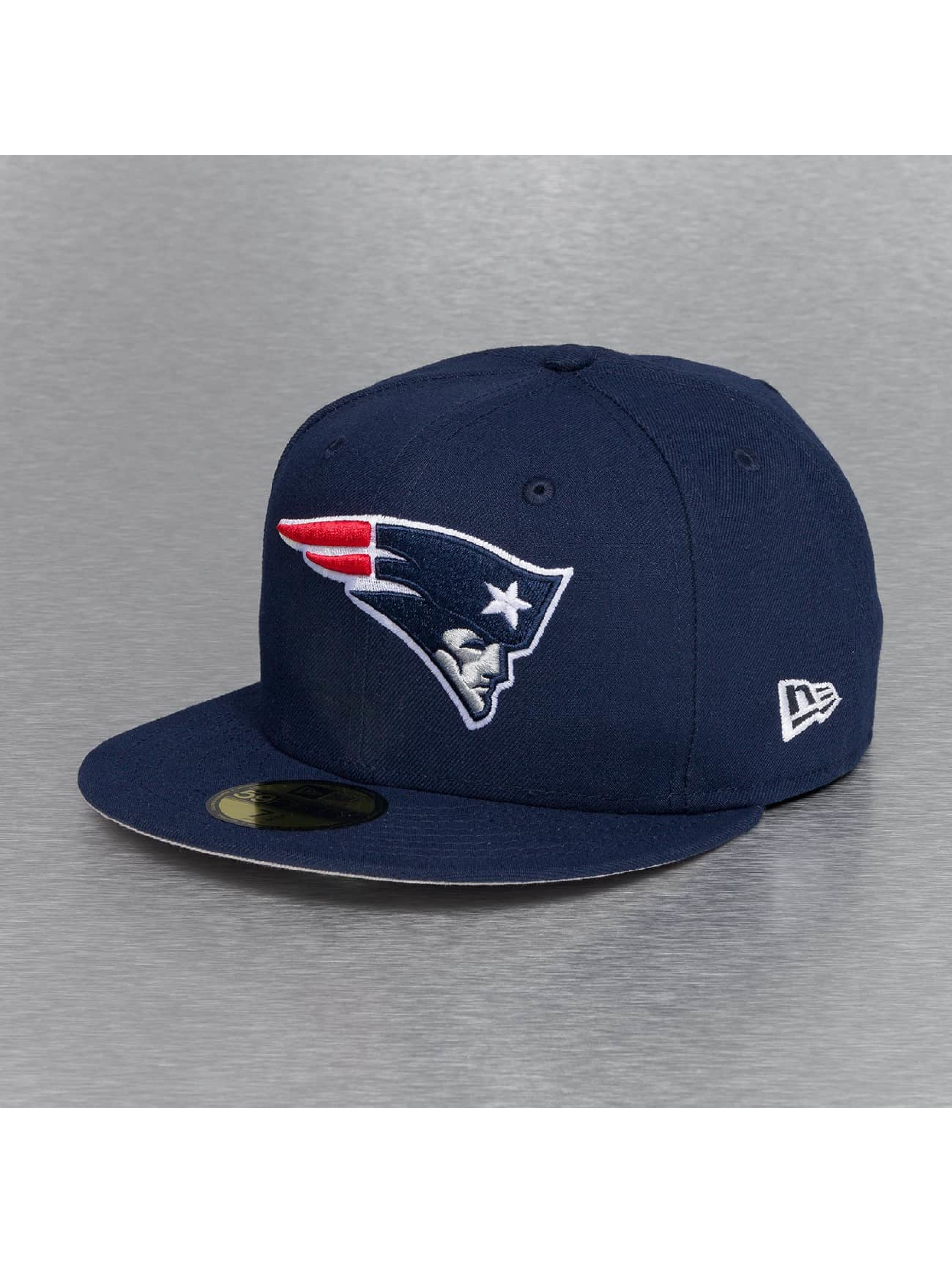 New Era Fitted Cap On Field 15 Sideline New England Patriots blauw