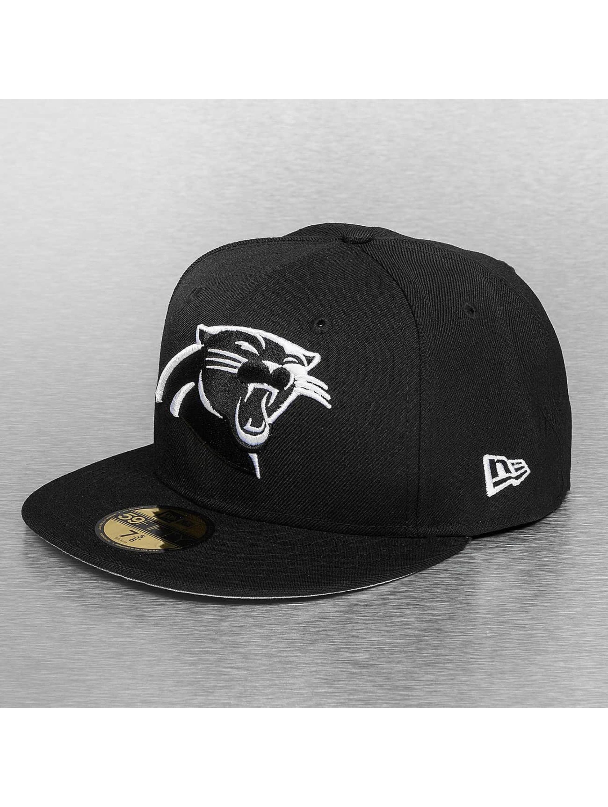 New Era Fitted Cap Carolina Panthers czarny