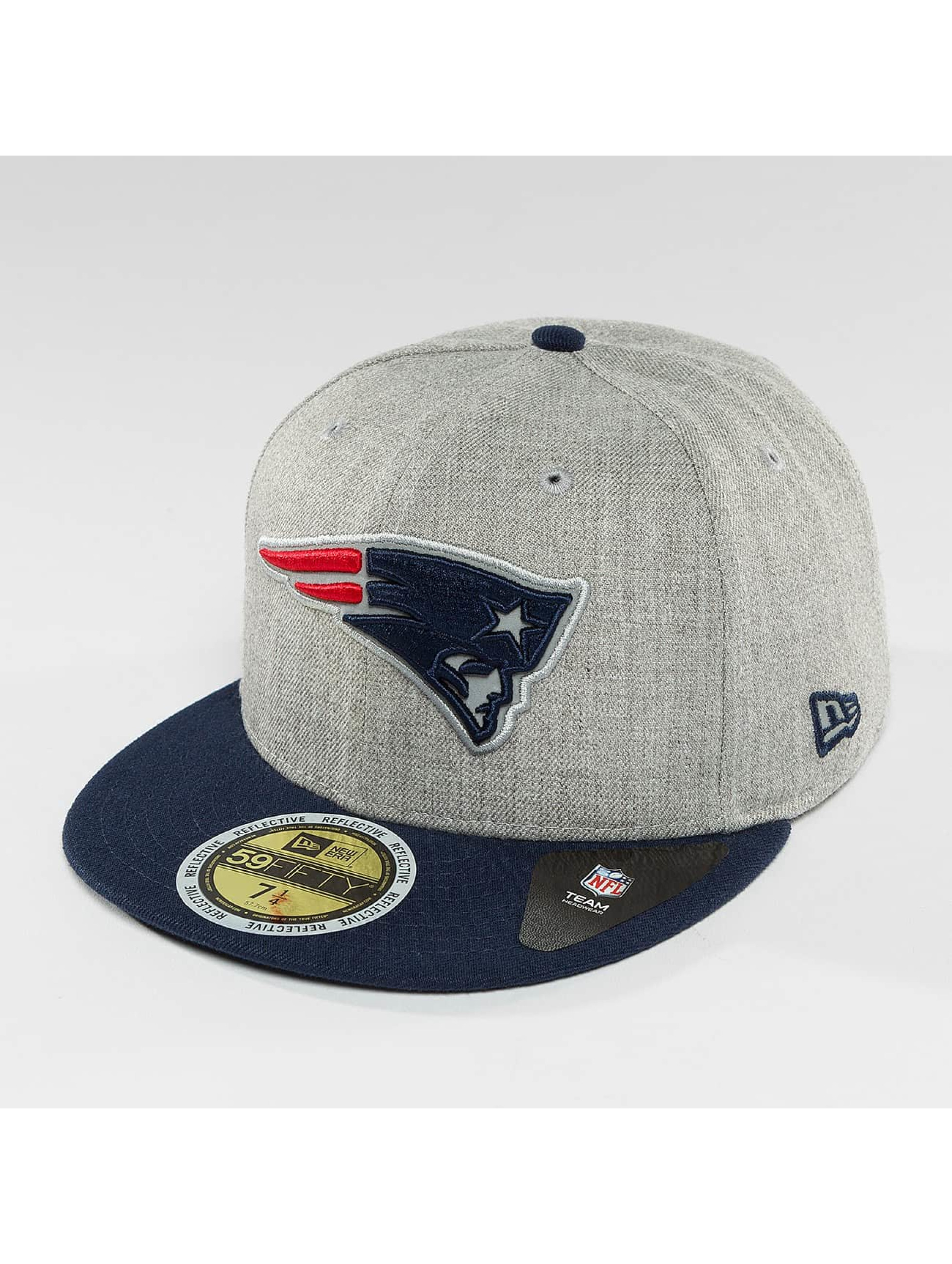 New Era Fitted Cap Reflective Heather New England Patriots grå