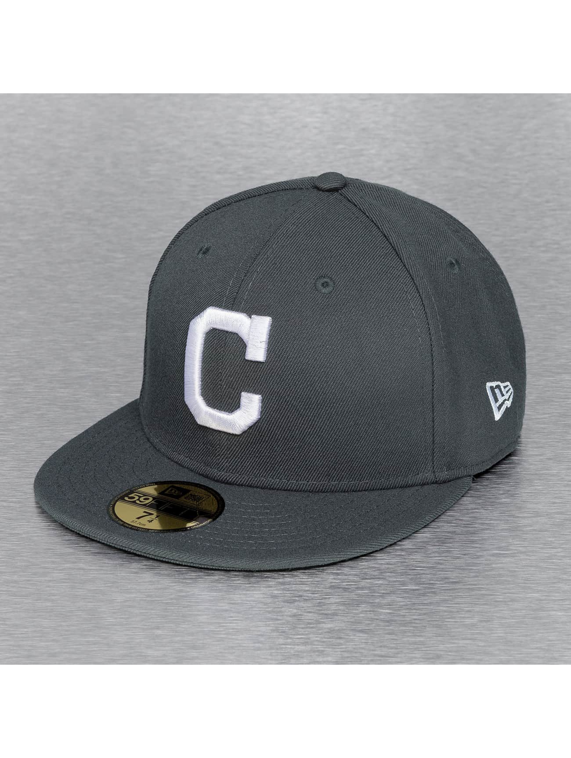 Fitted Cap MLB Basic Cleveland Indians in grau