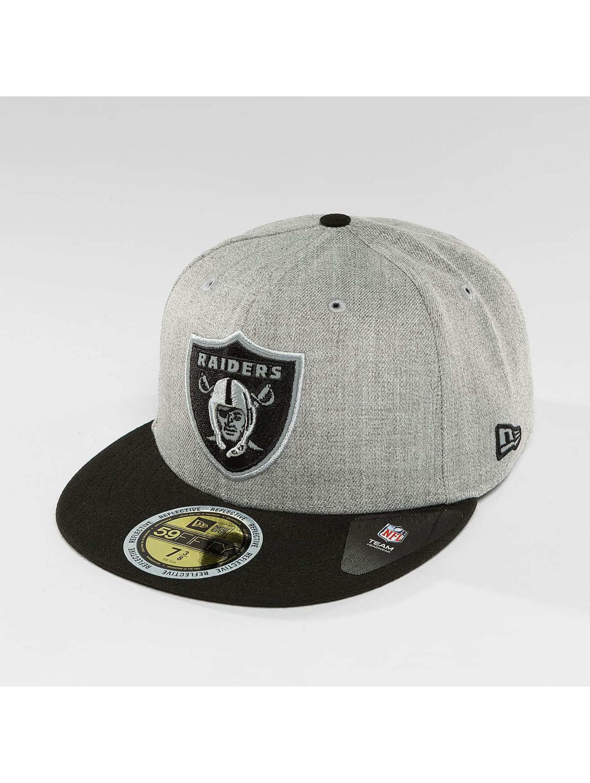 New Era Fitted Cap New Era Reflective Heather Oakland Raiders 59Fifty grijs