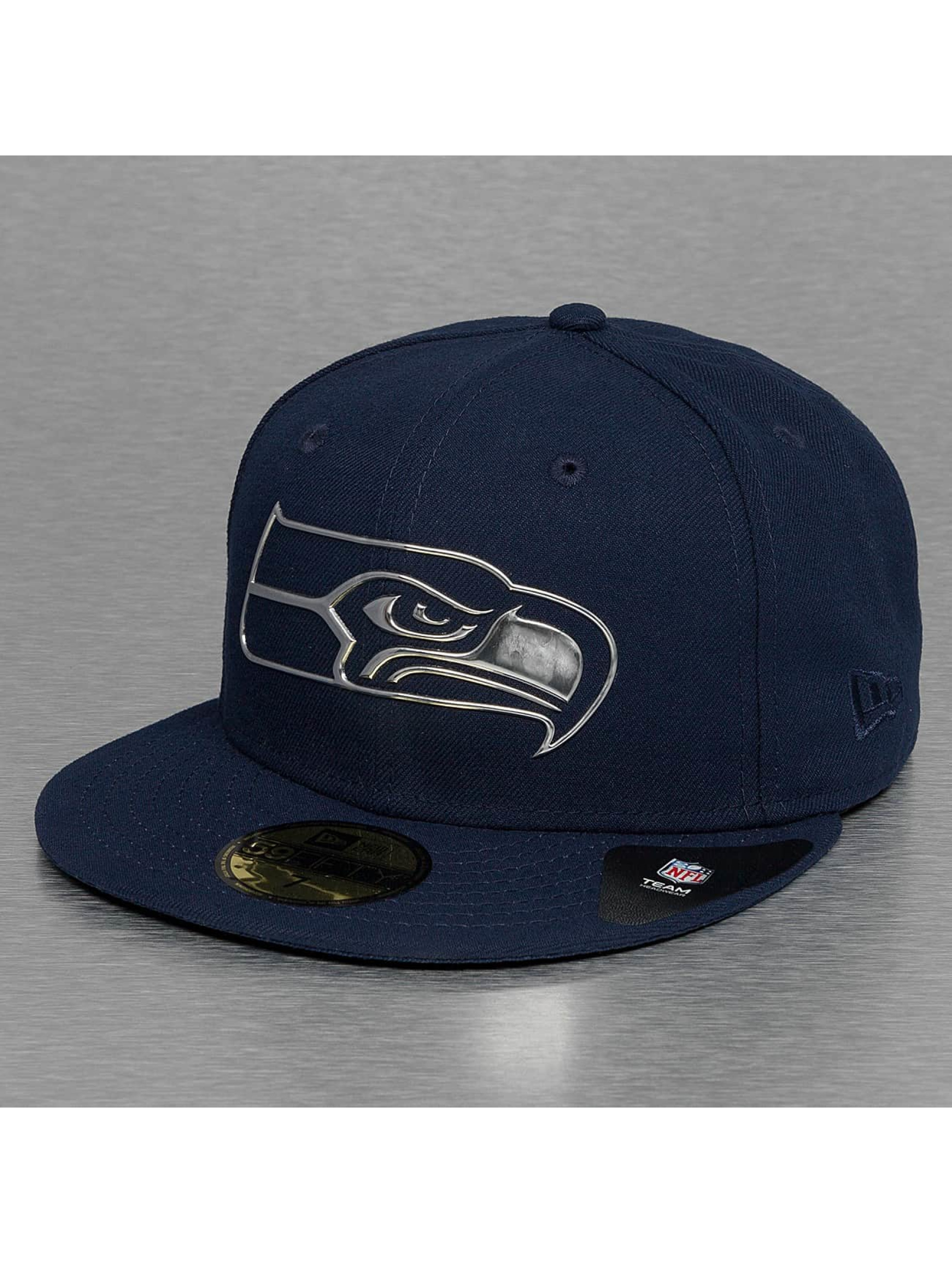 New Era Fitted Cap Ne Remix Liquid Logo Seattle Seahawks 59Fifty niebieski