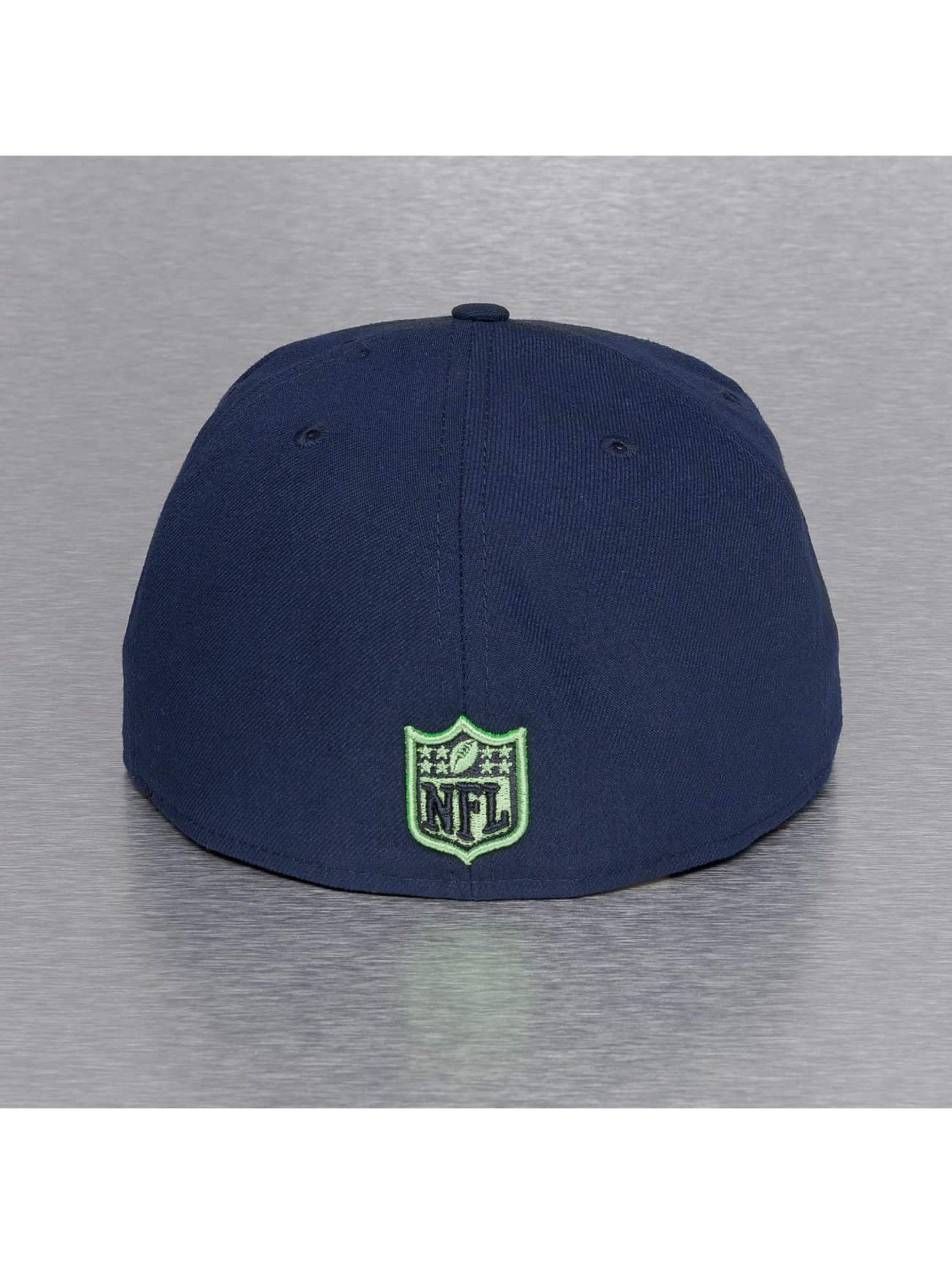 New Era Fitted Cap On Field 15 Sideline Seattle Seahawks niebieski