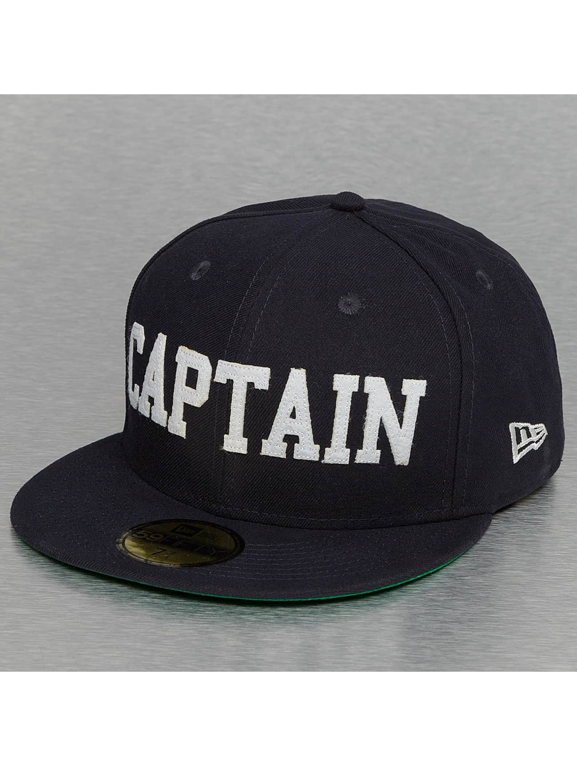 New Era Fitted Cap AKA 59Fifty Captain niebieski