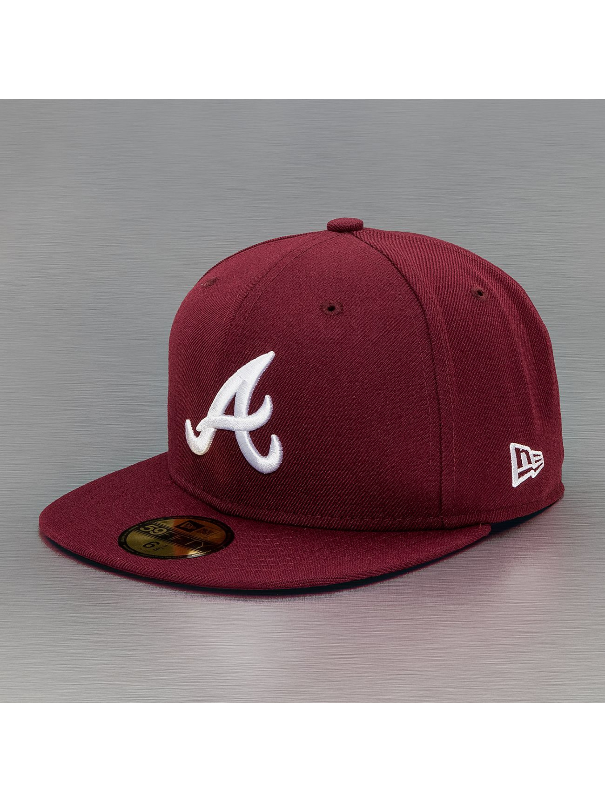 New Era Fitted Cap League Basic Atlanta Braves rood