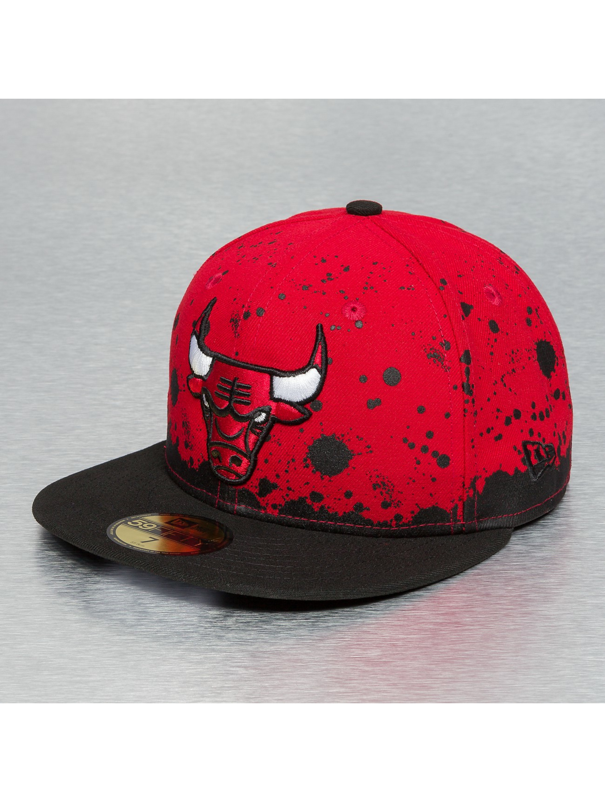 New Era Fitted Cap Panel Splatter Chicago Bulls rood
