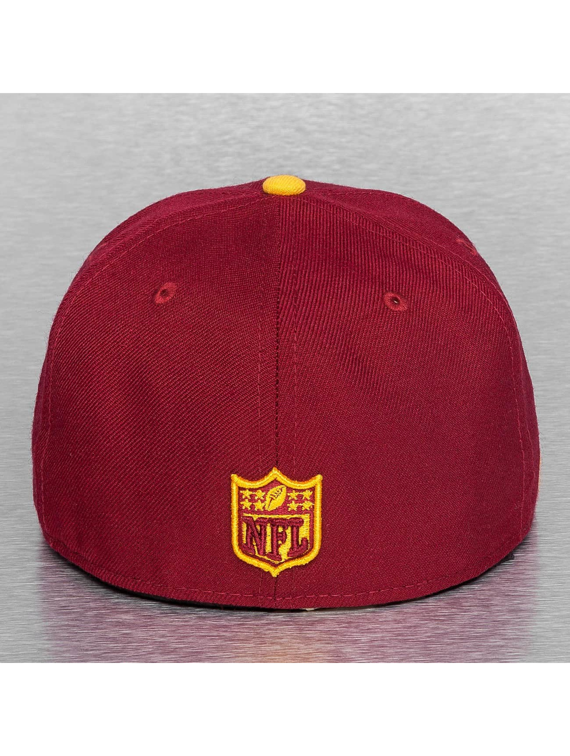 New Era Fitted Cap On Field 15 Sideline Washington Redskins rood