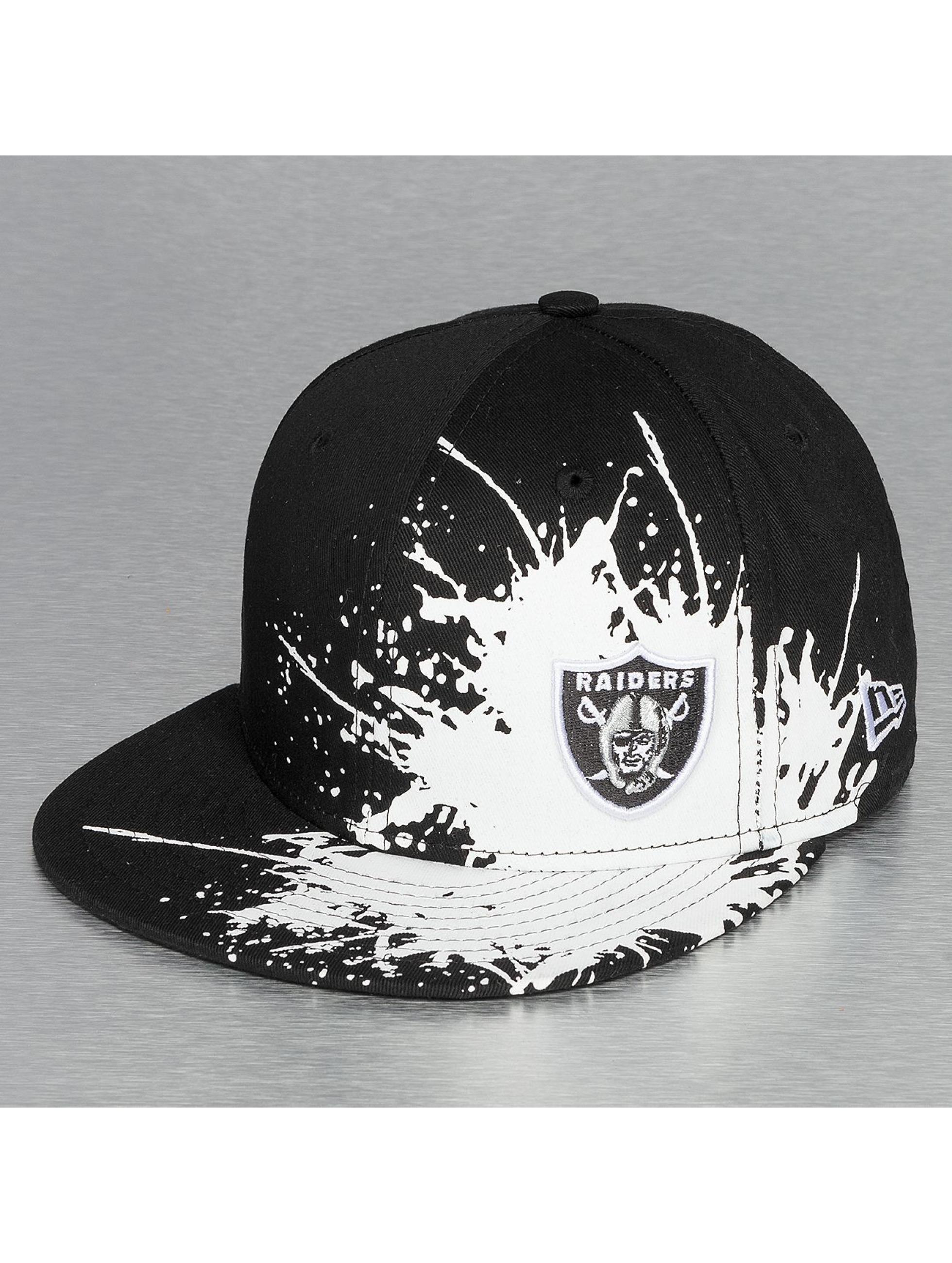 New Era Fitted Cap Splatways Flawless Oakland Raiders 59Fifty schwarz
