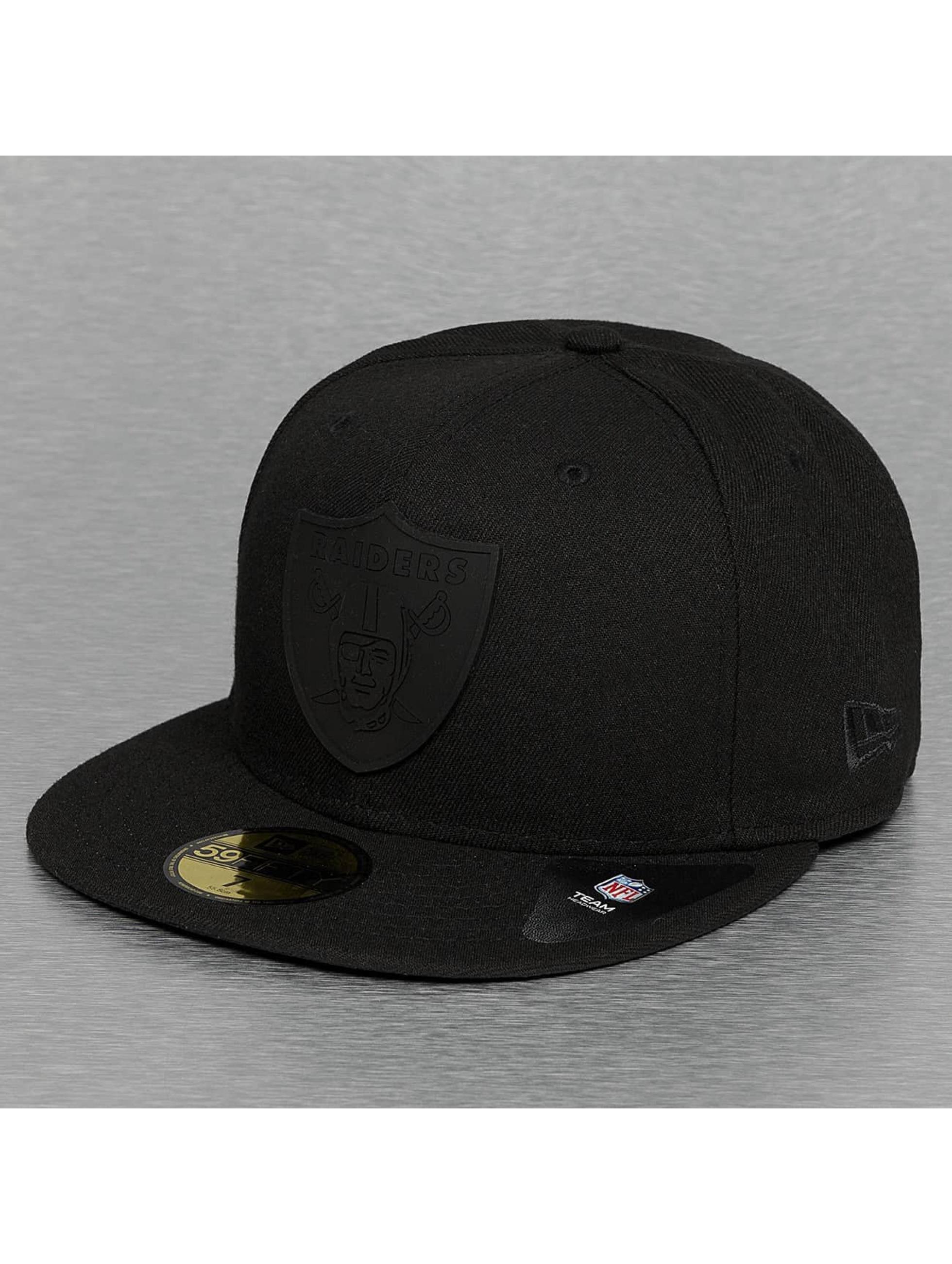 Fitted Cap Team Rubber Logo Oakland Raiders in schwarz