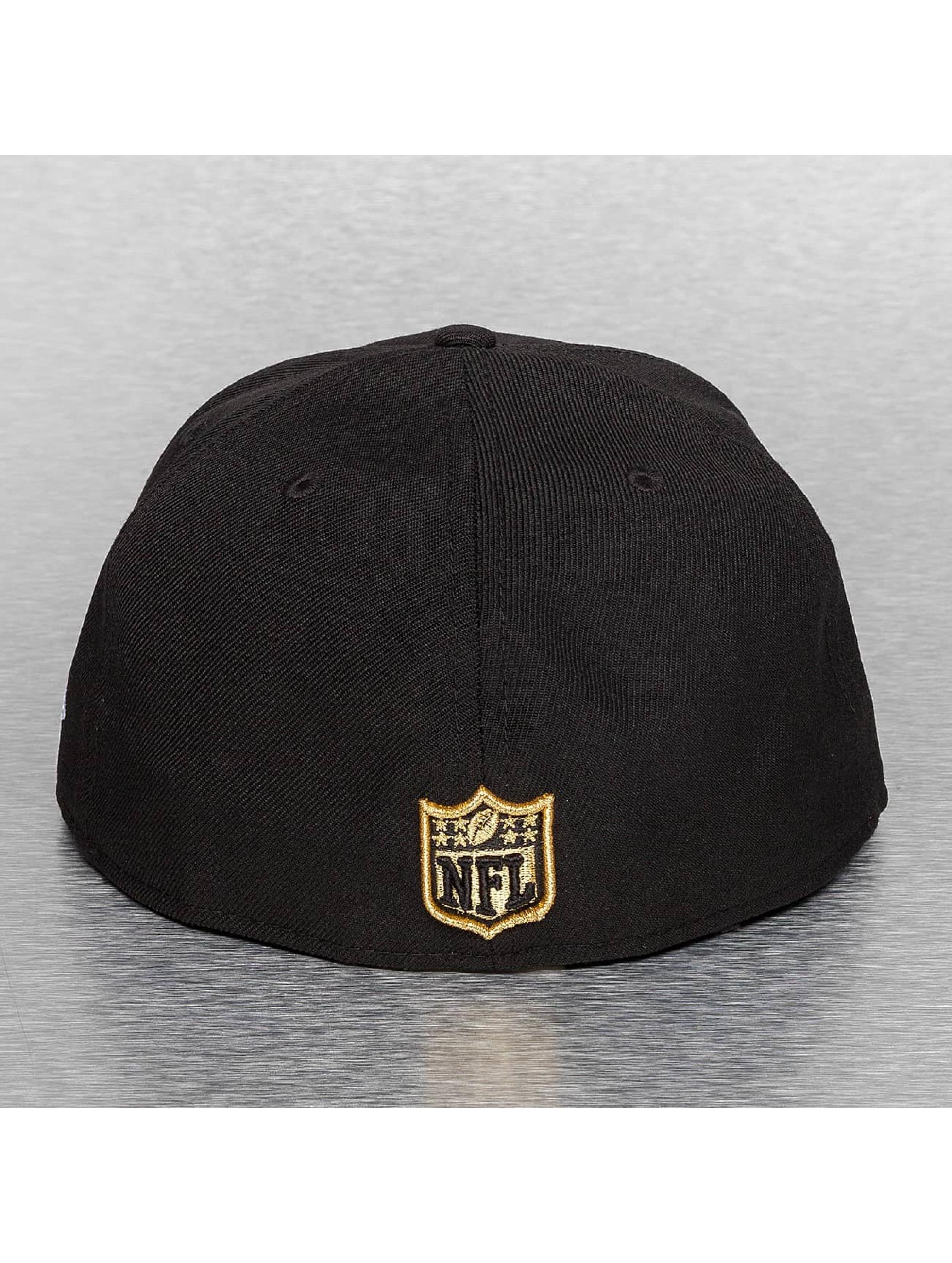 New Era Fitted Cap On Field 15 Sideline New Orleans Saints schwarz