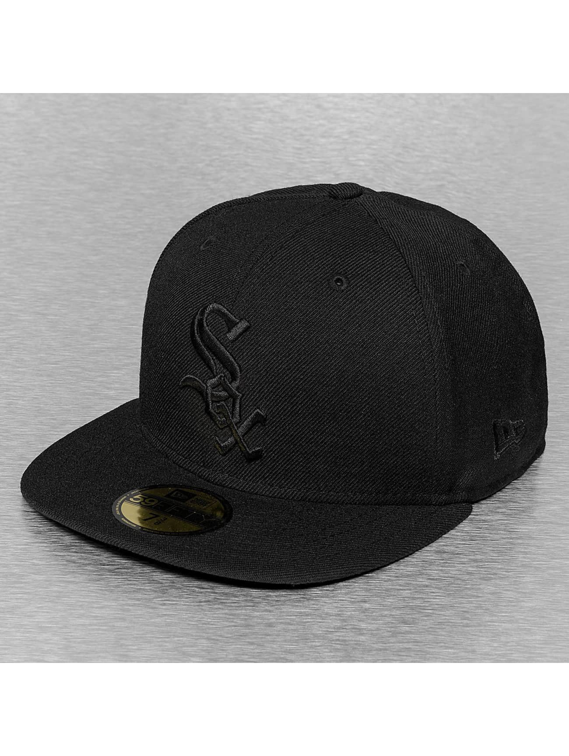 New Era Fitted Cap Black On Black Chicago White Sox schwarz