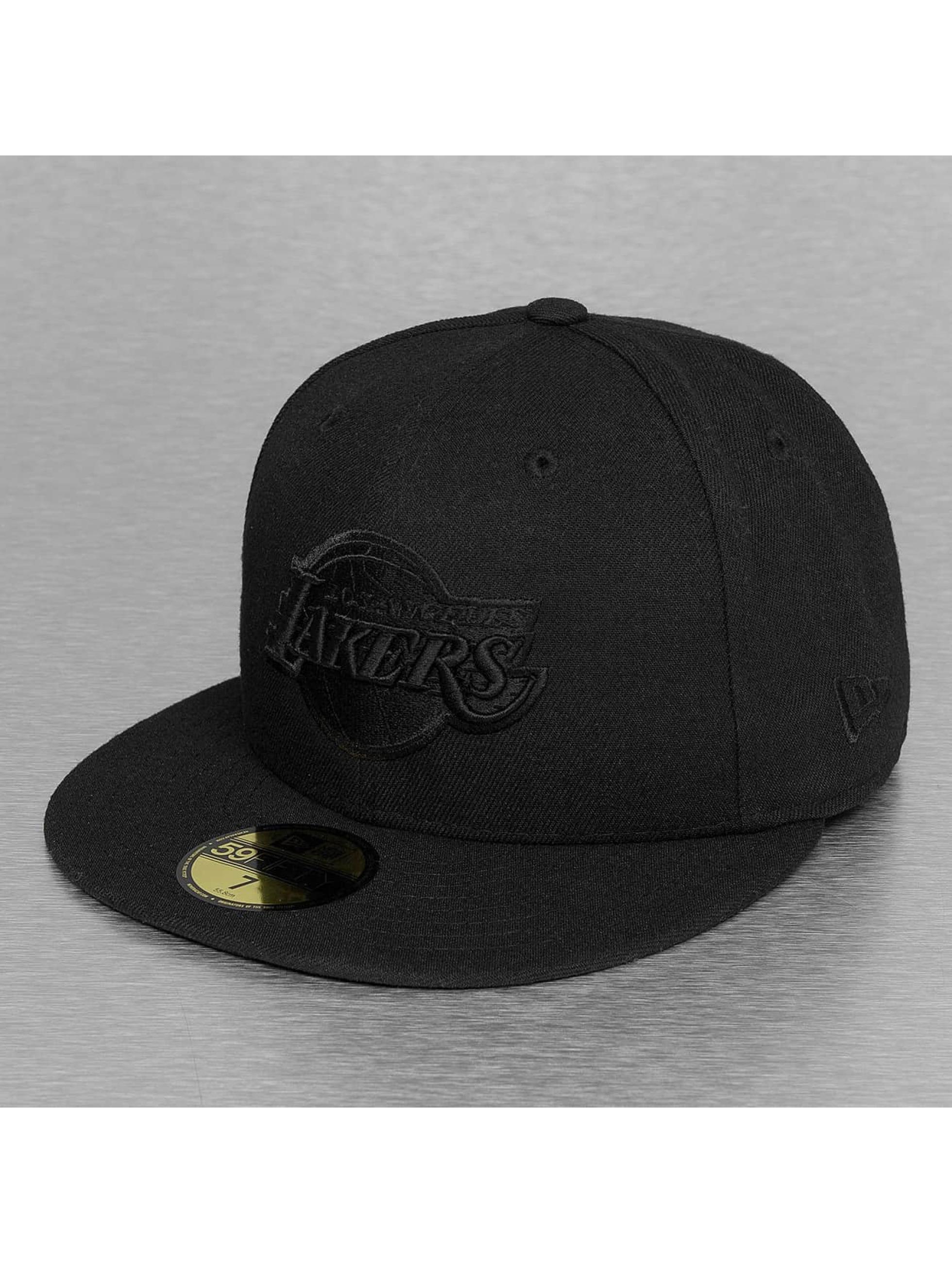 Fitted Cap NBA Black On Black LA Lakers 59Fifty in schwarz