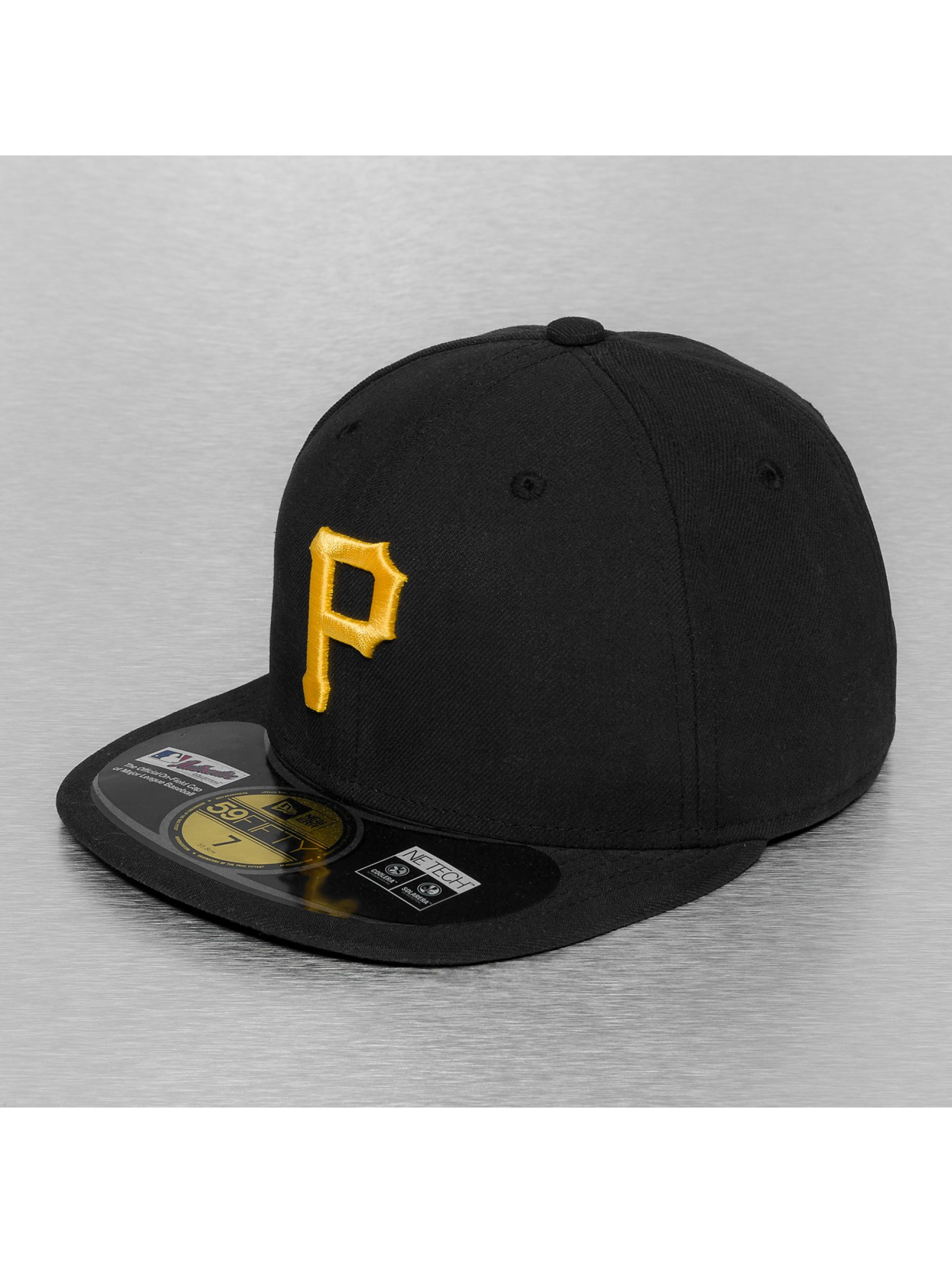 Fitted Cap Authentic Performance Pittsburgh Pirates 59Fifty in schwarz
