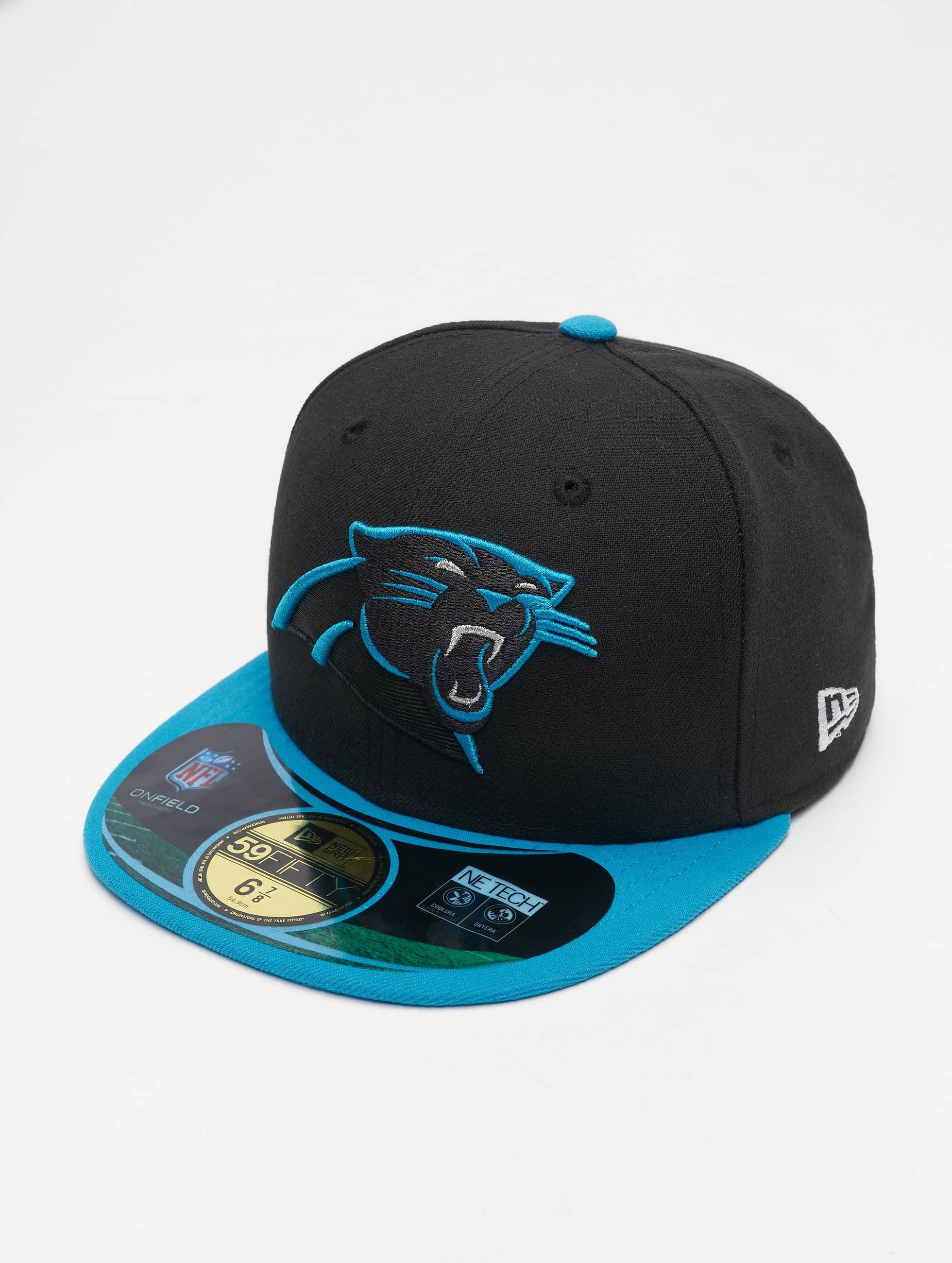 New Era Fitted Cap NFL On Field Carolina Panthers schwarz